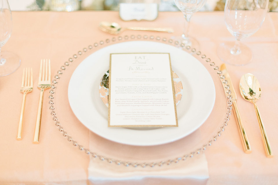 winsor event studio gold place setting