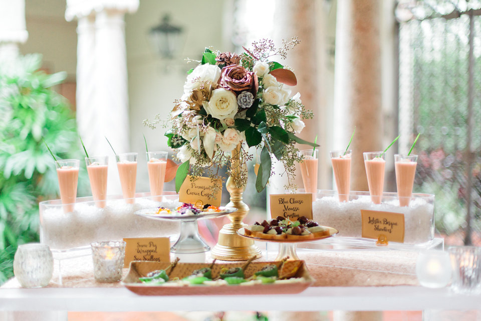winsor event studio olympia wedding hors d'oeuvres appetizer