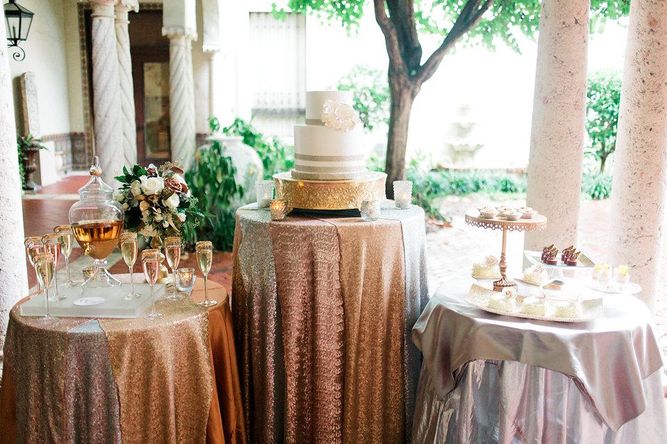 winsor event studio dessert display metallic