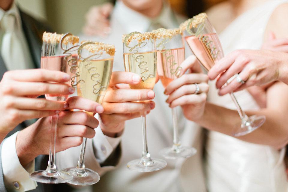 winsor event studio champagne toast cheers