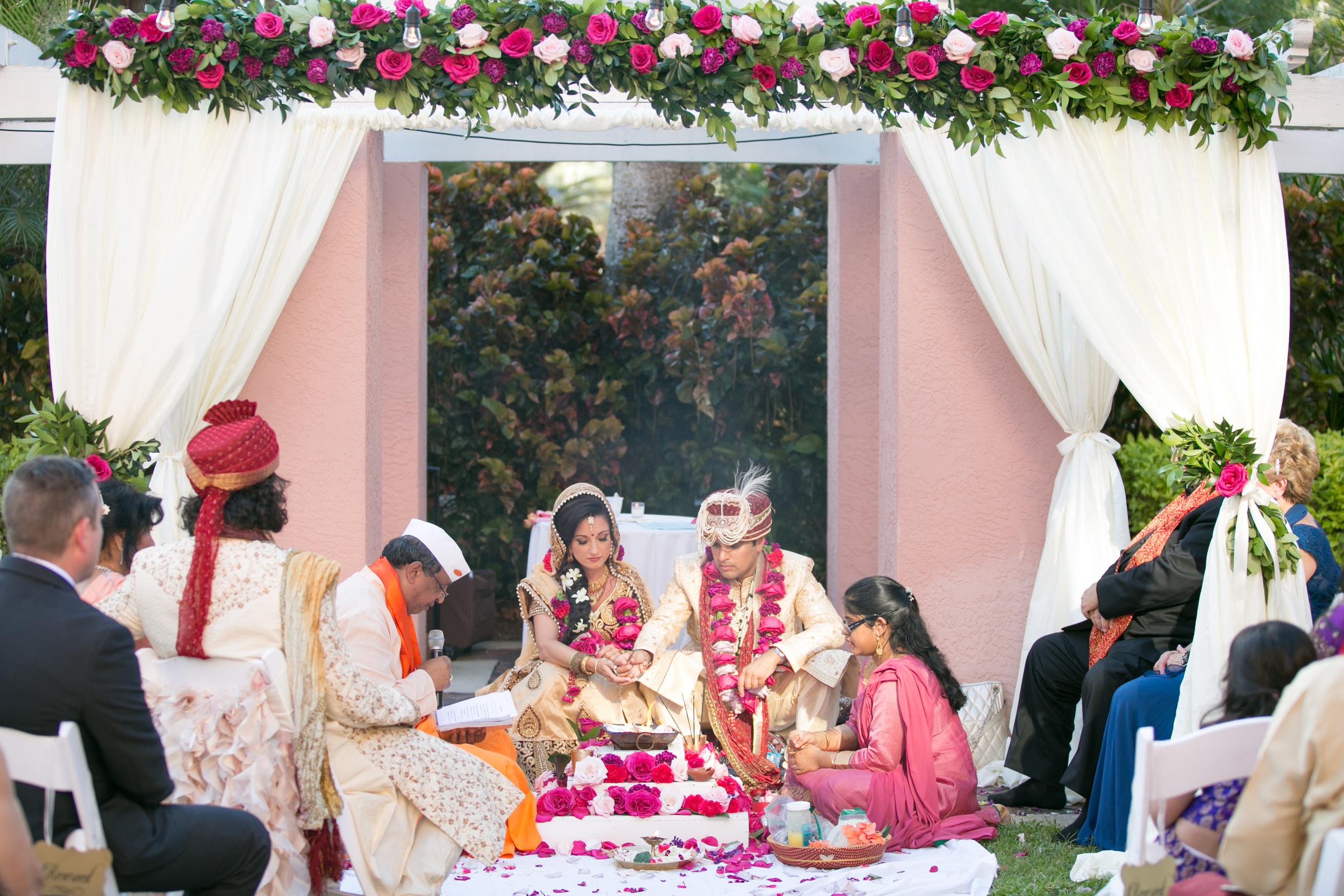 winsor event studio indian wedding vinoy mandap drape arch