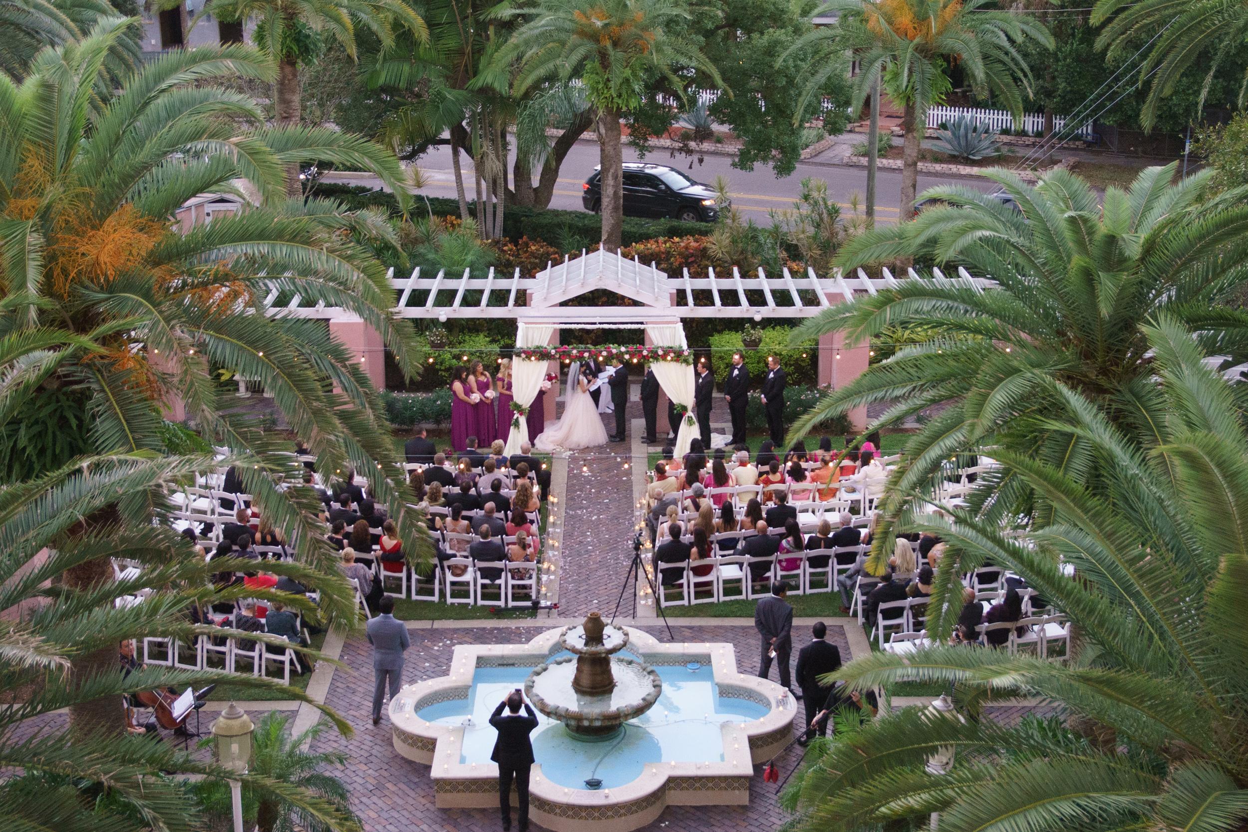 winsor event studio vinoy tea garden wedding ceremony