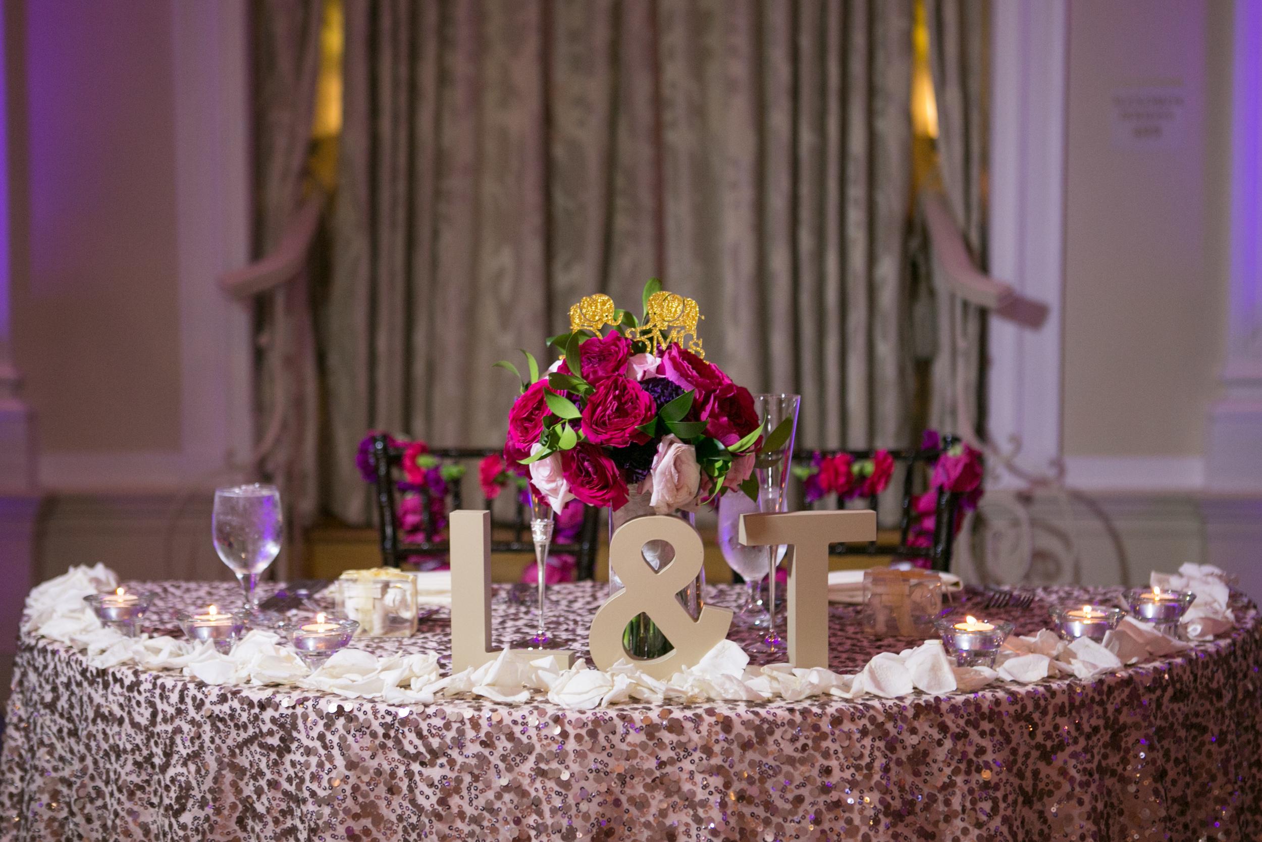 winsor event studio sweetheart table wedding