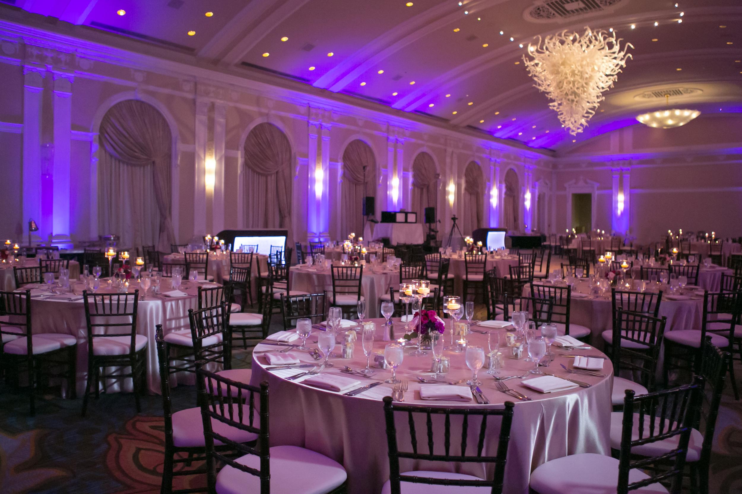 winsor event studio vinoy wedding ballroom uplight