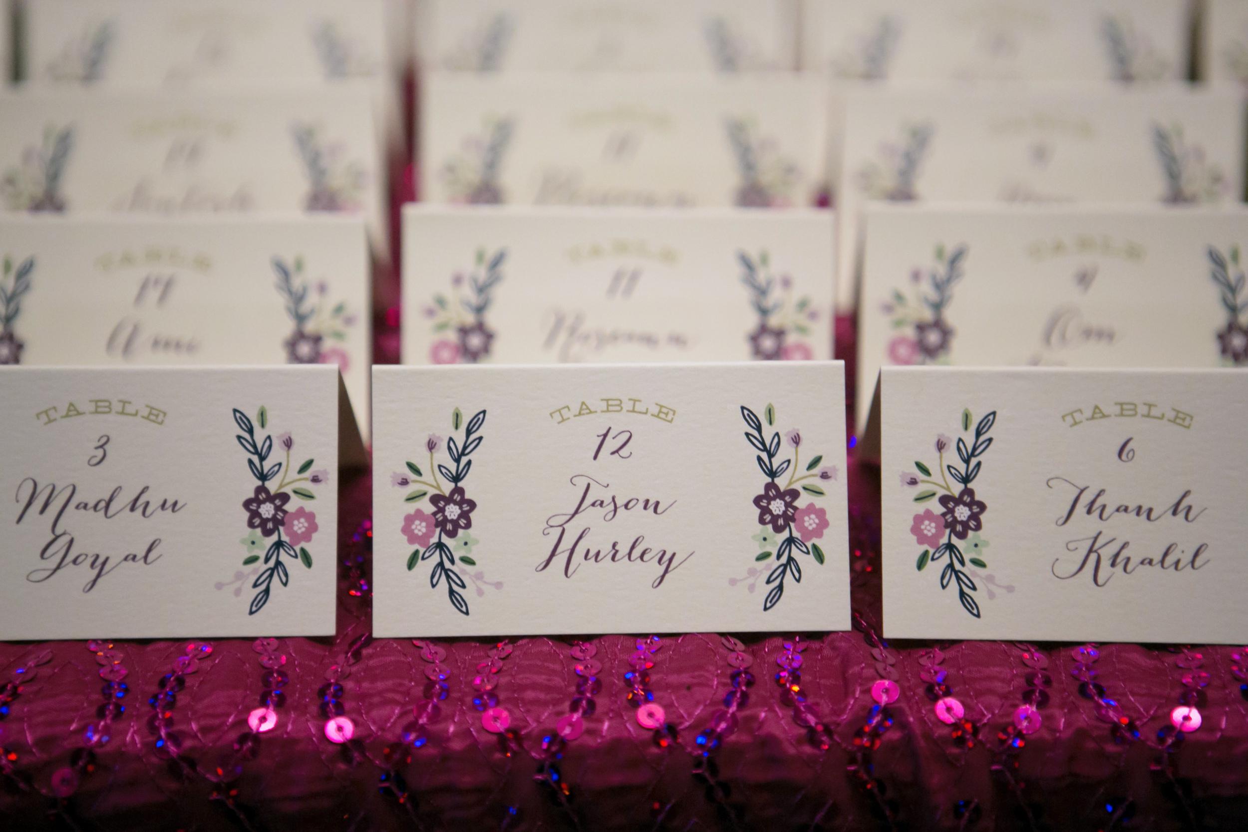 winsor event studio escort cards wedding