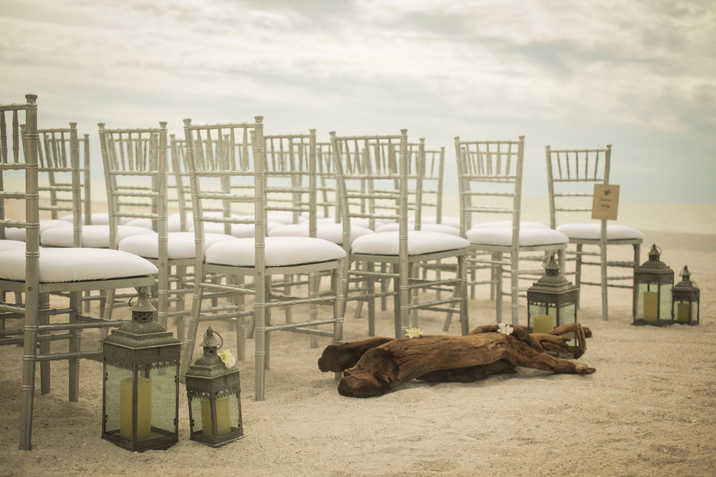 winsor event studio driftwood lanterns aisle wedding