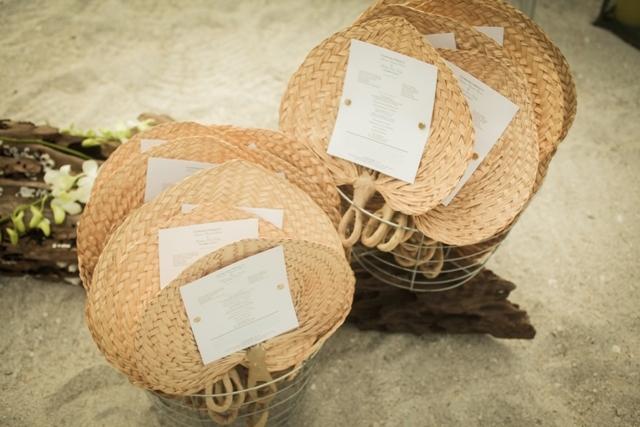 winsor event studio wedding program fan