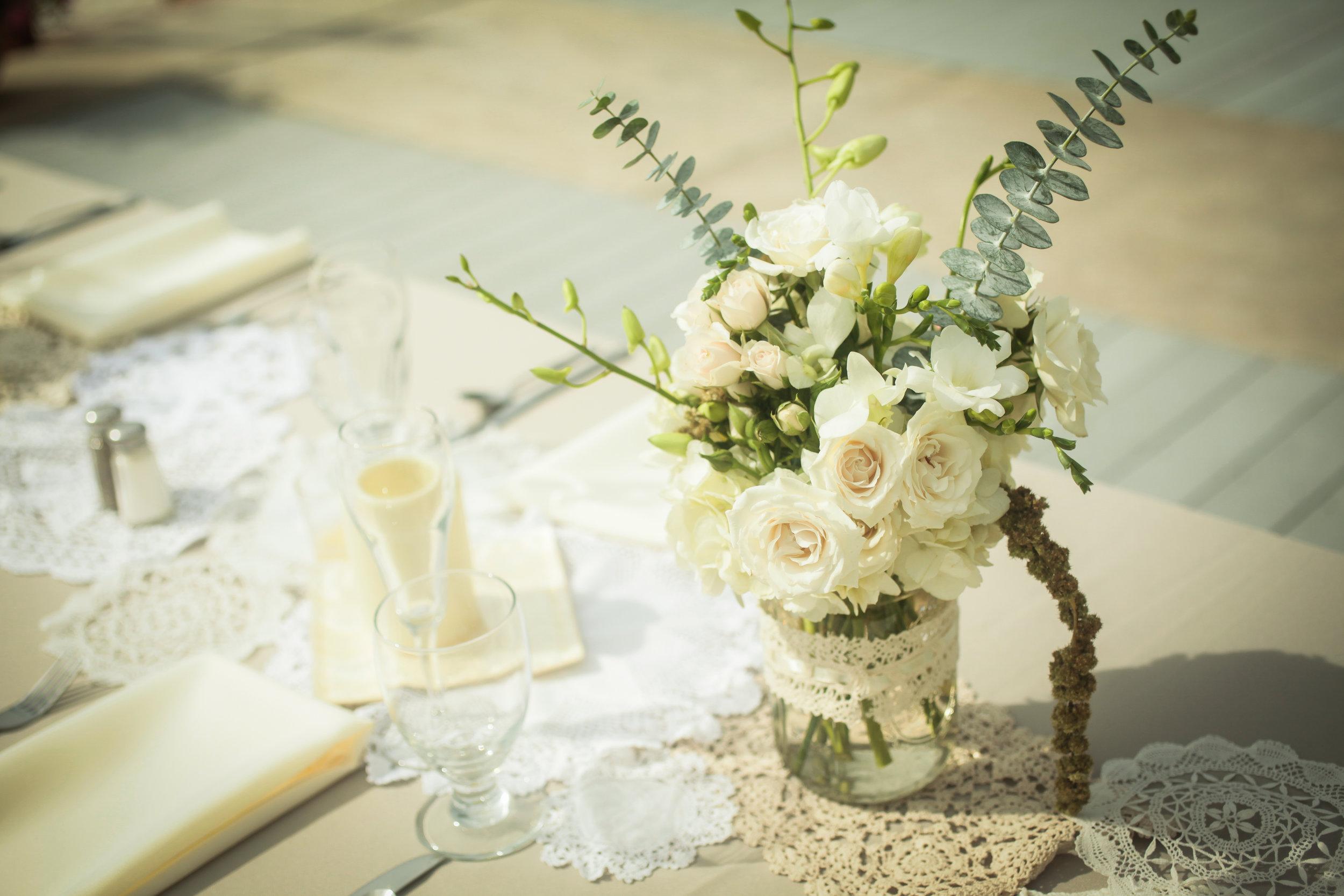 winsor event studio lace doily runner wedding