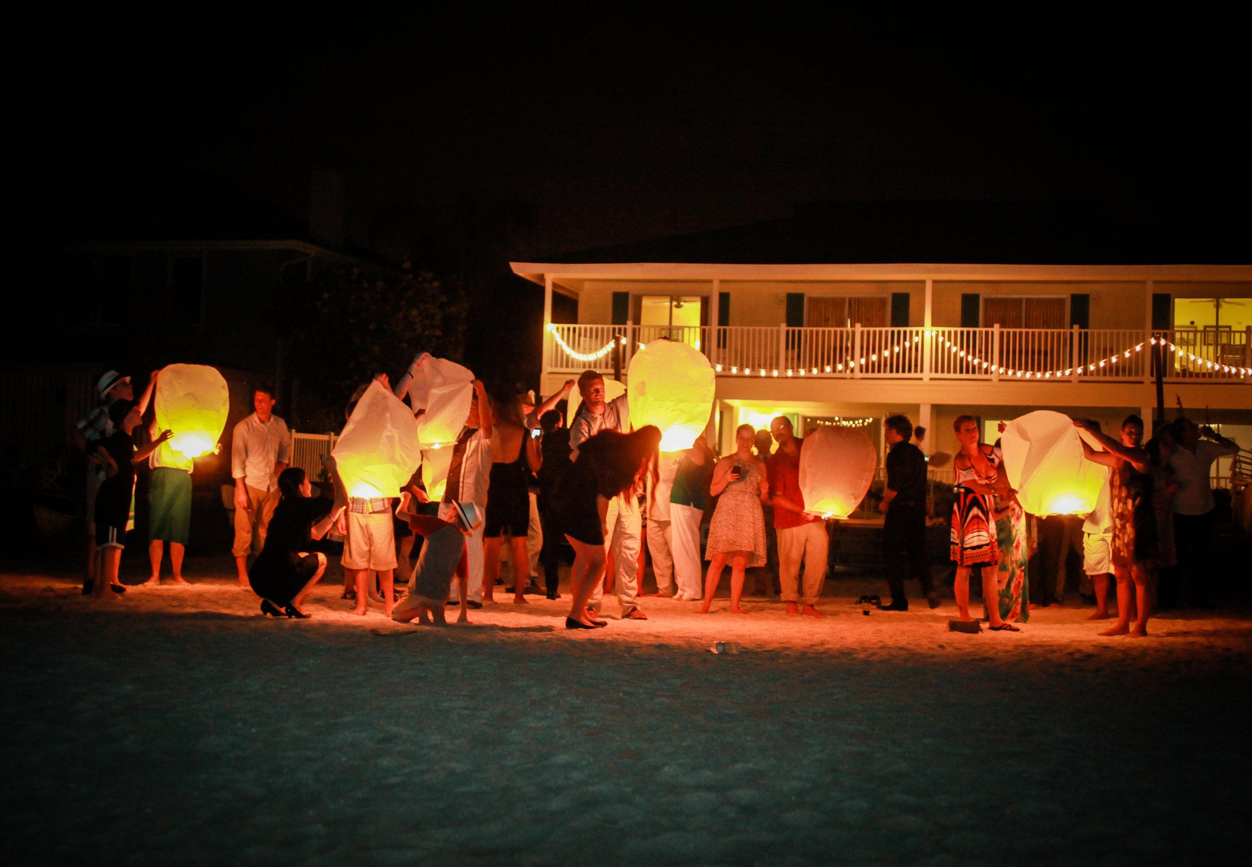 winsor event studio sky lantern wedding