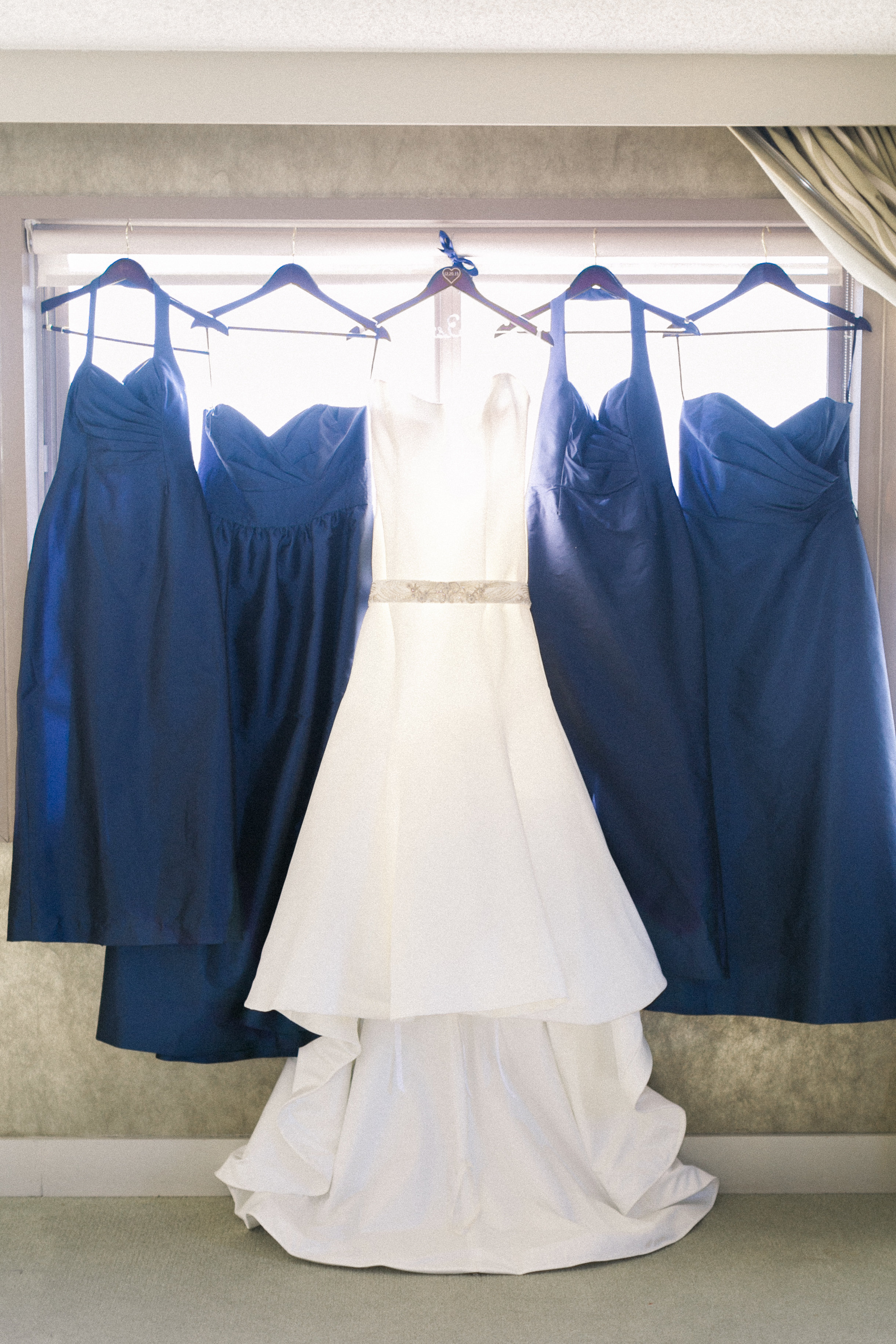 winsor event studio navy bridesmaid dresses