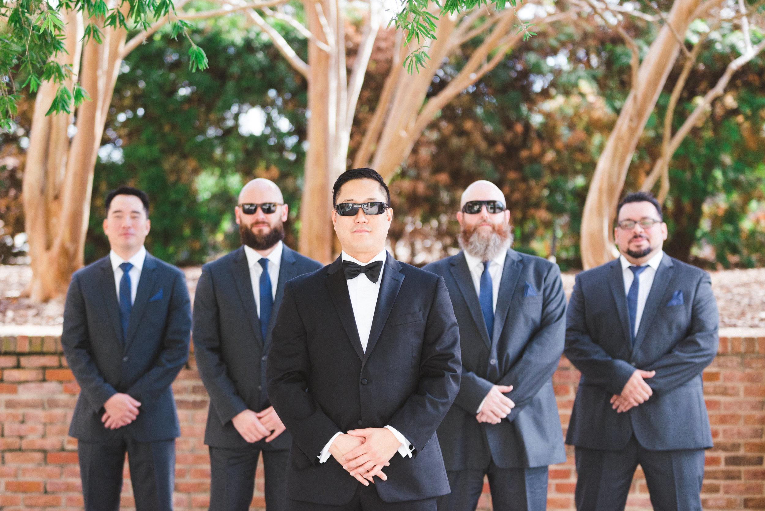 winsor event studio navy suits groom