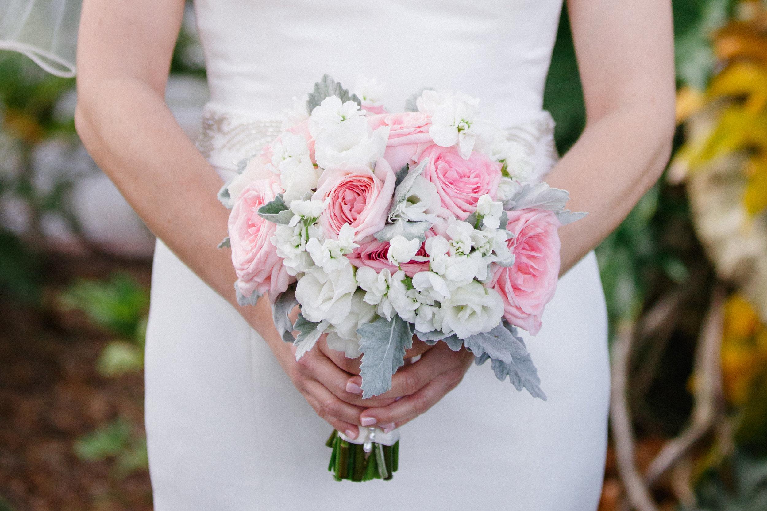 winsor event studio blush pink bouquet