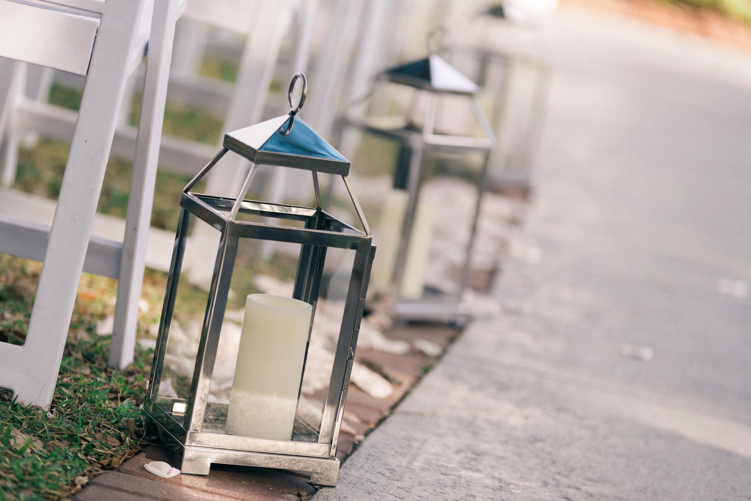 winsor event studio lanterns aisle wedding