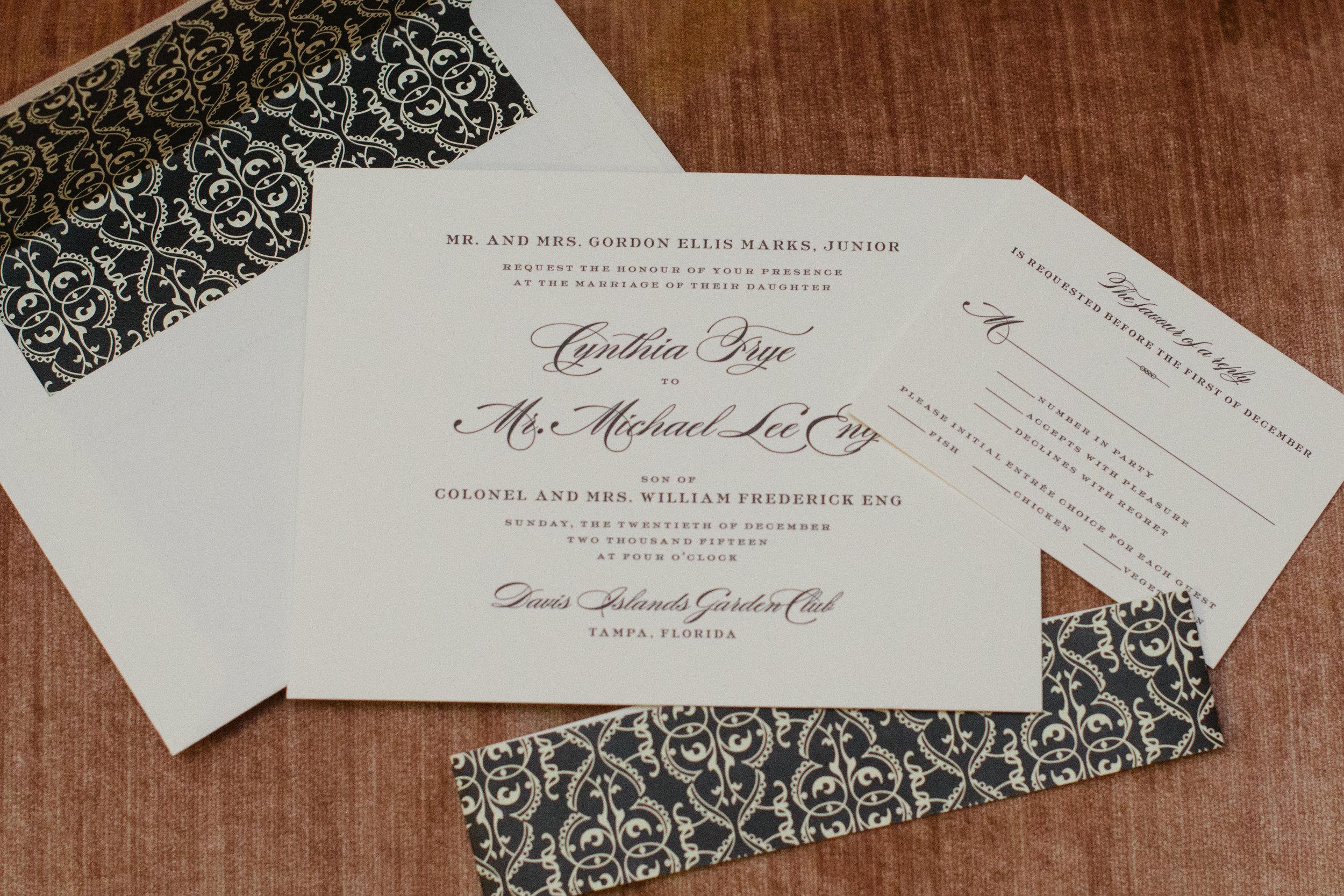 winsor event studio wedding invitation suite
