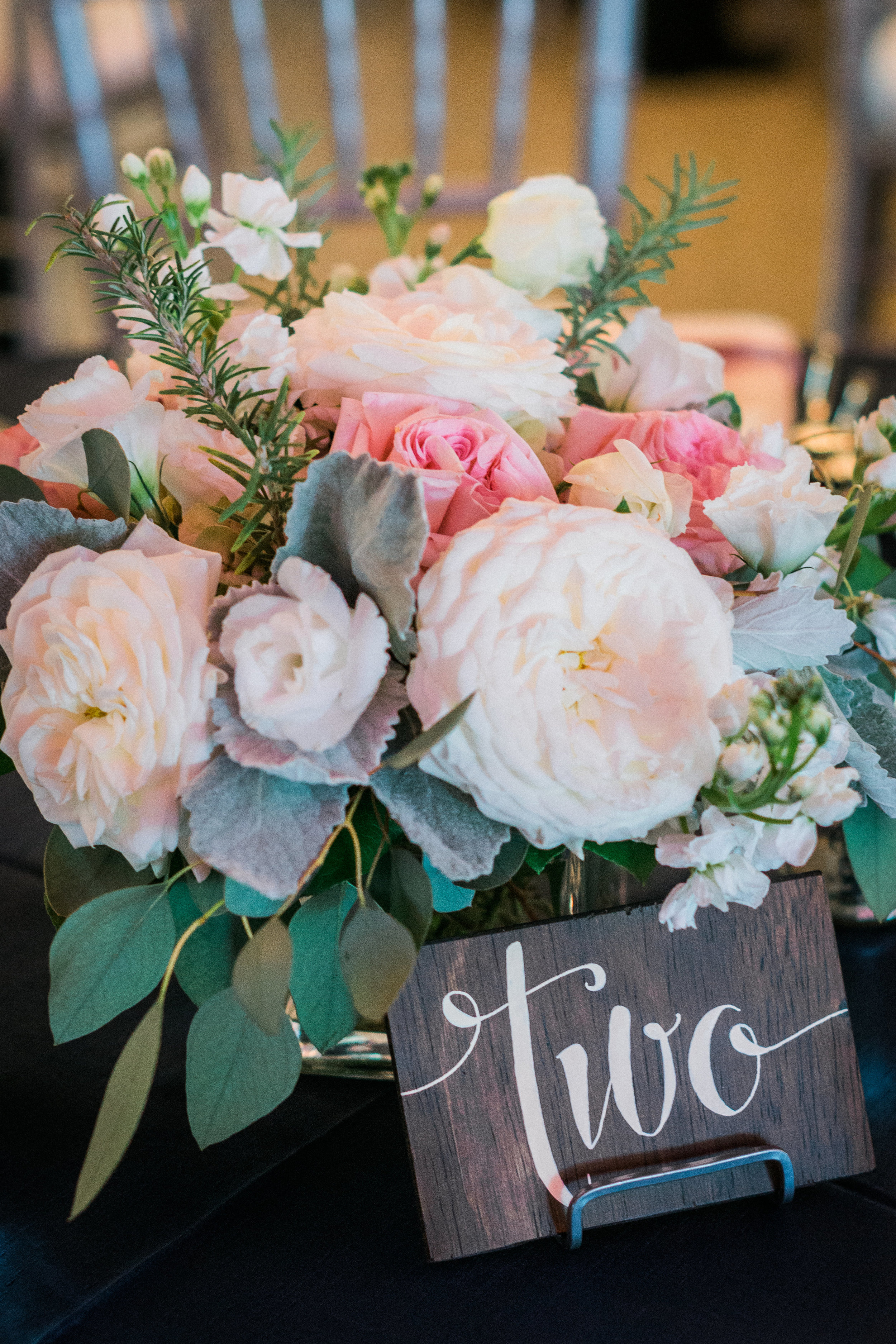 winsor event studio wedding centerpiece blush pink garden