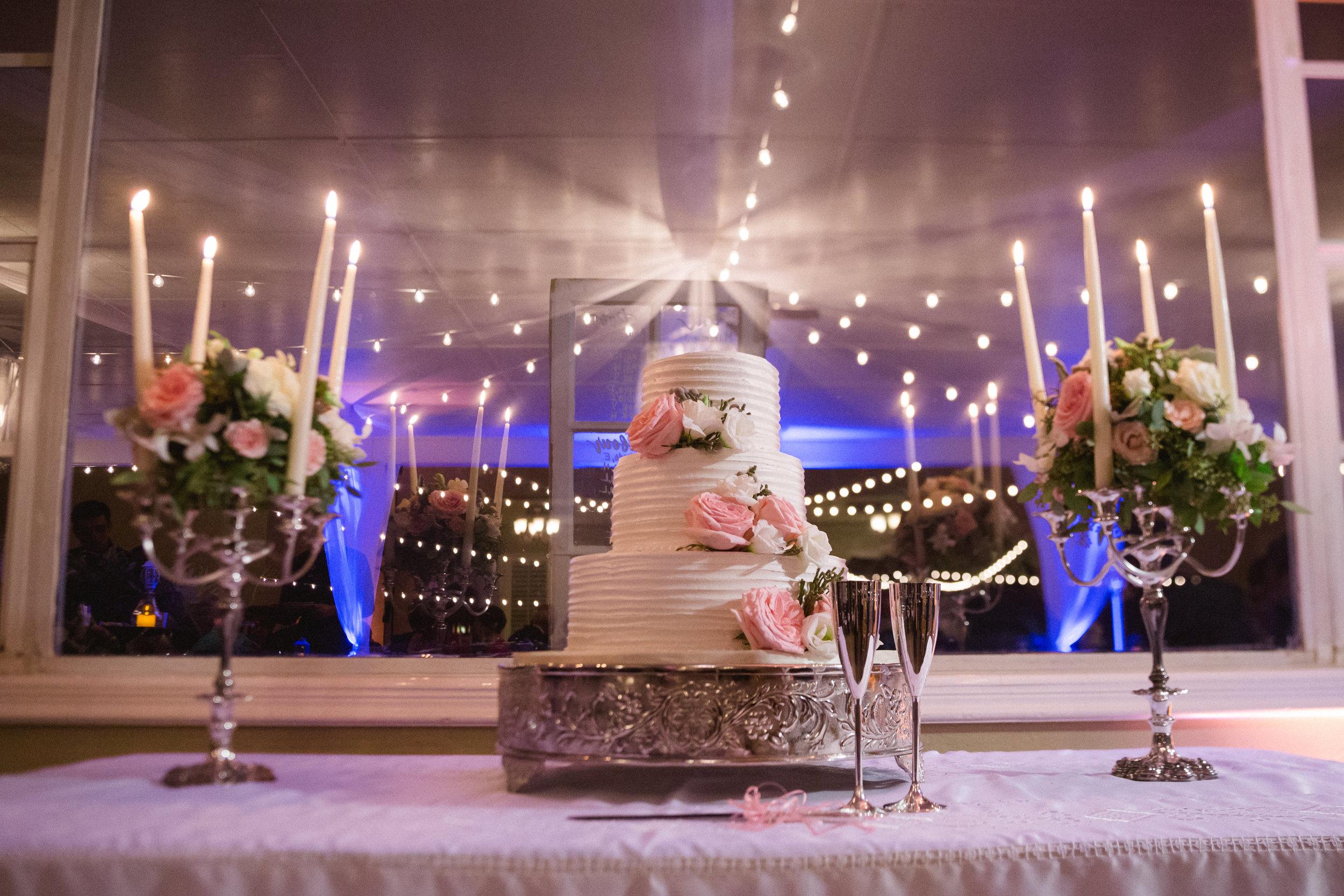 winsor event studio wedding cake candelabras