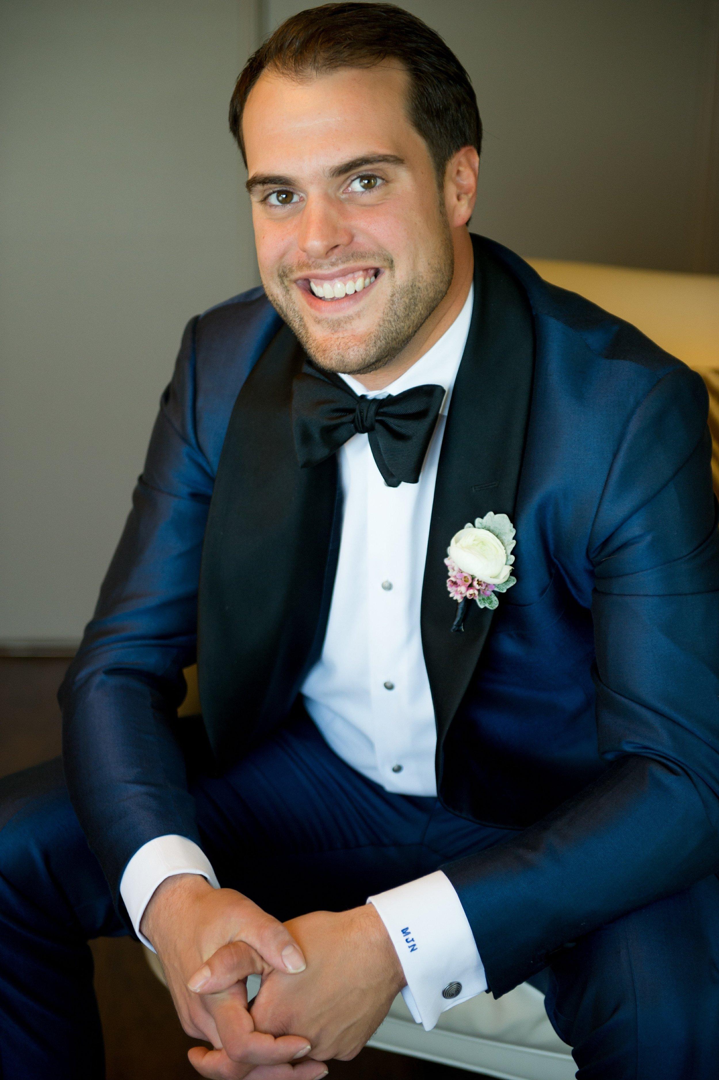 winsor event studio navy suit groom