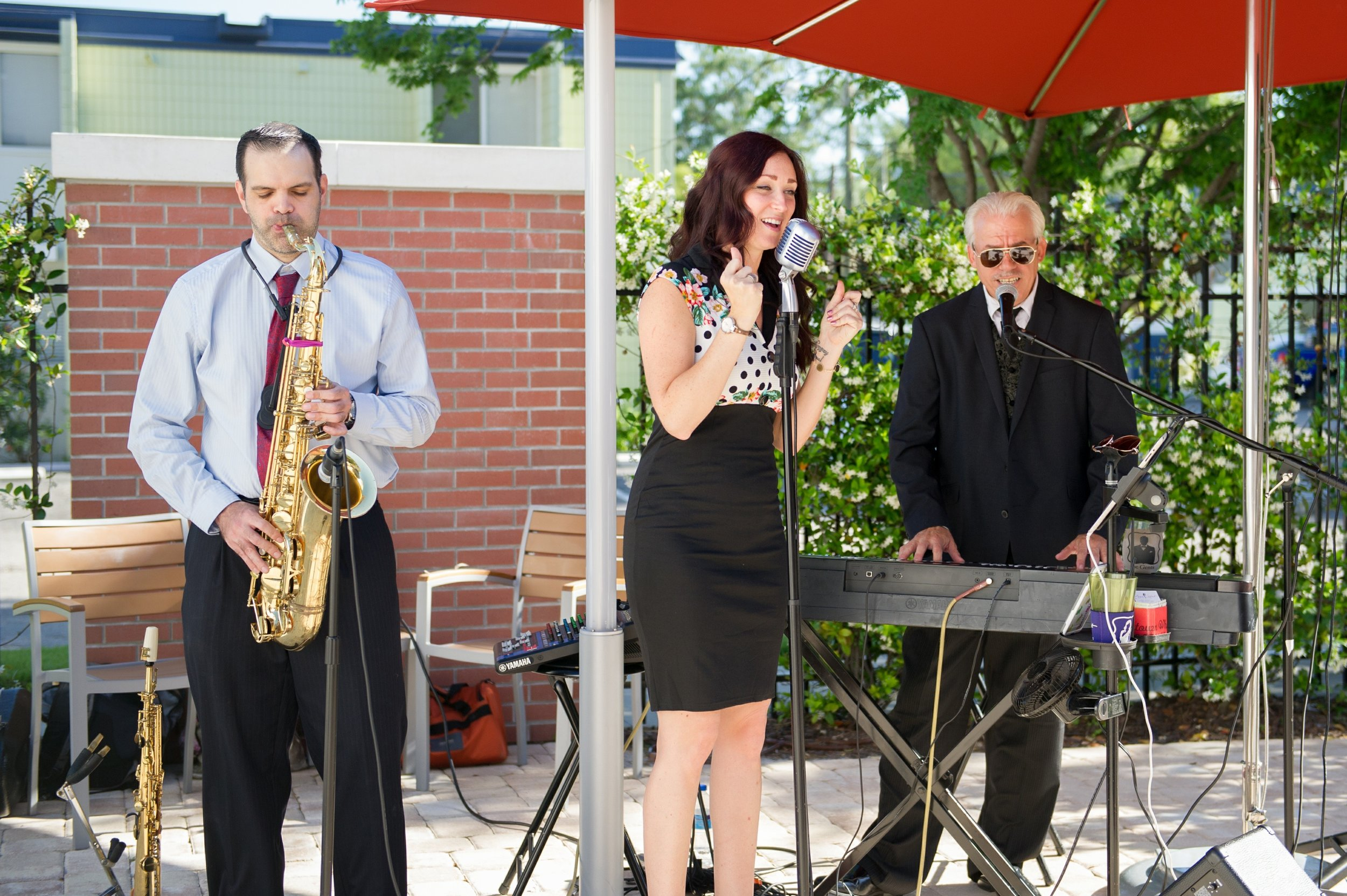 A live jazz band serenaded guests during a poolside cocktail hour at the foodie-focused Epicurean hotel.
