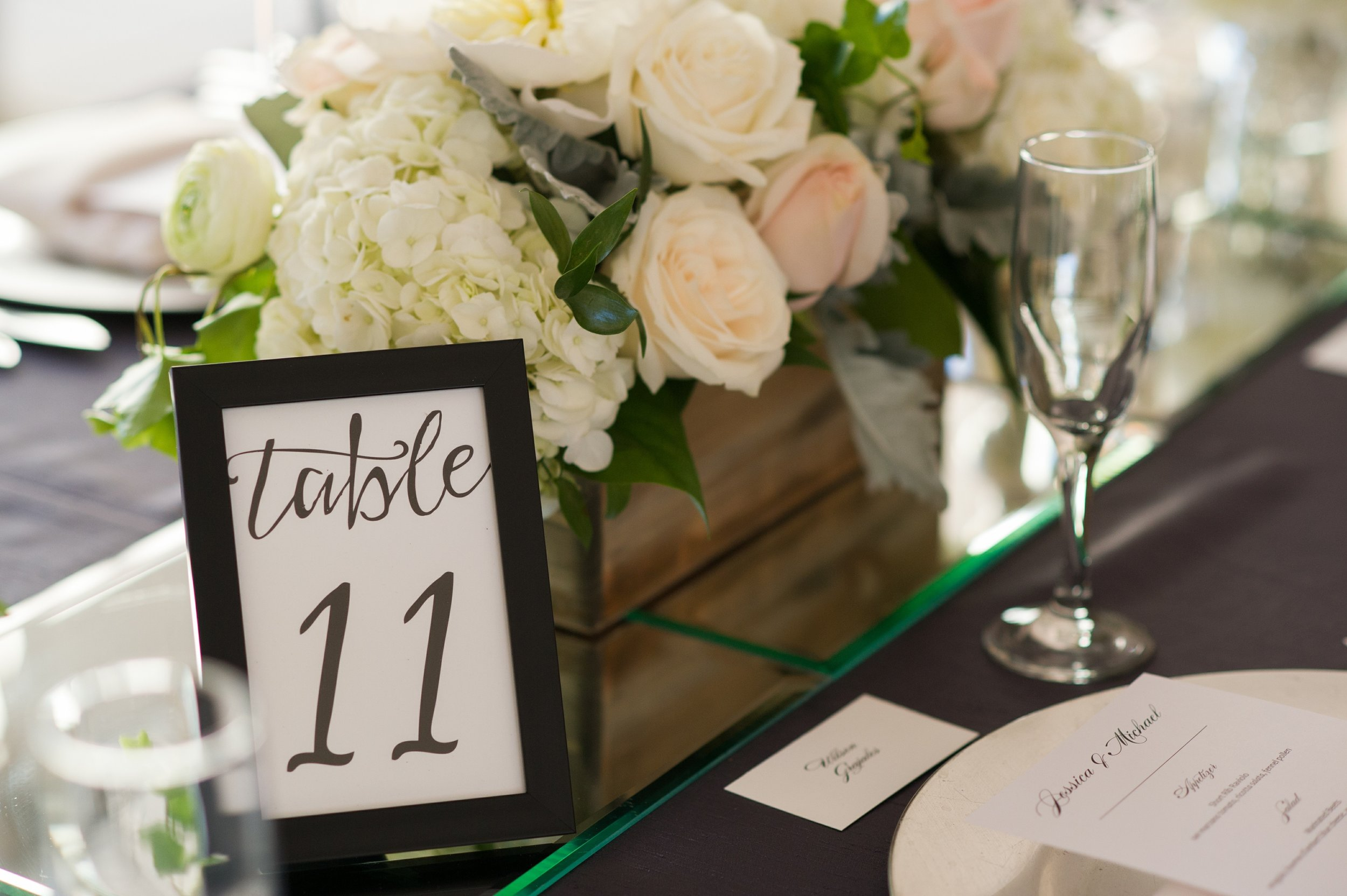 winsor event studio wedding table number frame