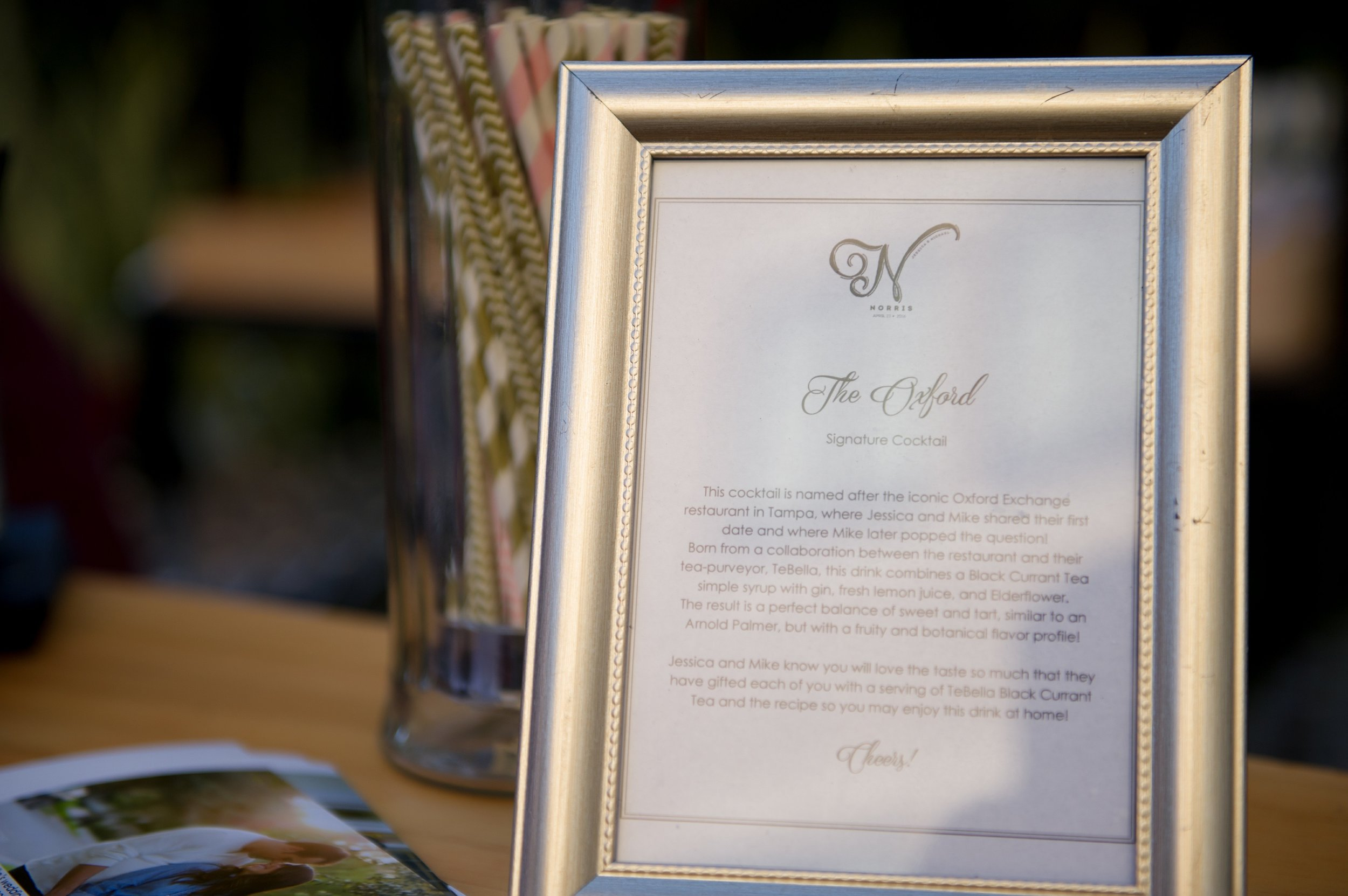 winsor event studio wedding signature drink sign