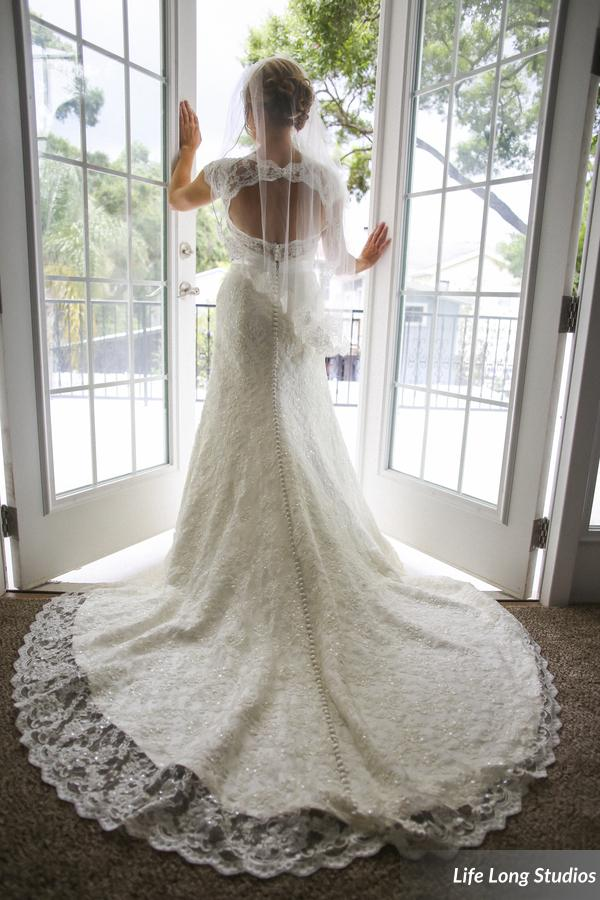 You guys... THAT DRESS!!! The lace mermaid gown with keyhole back is EVERYTHING!
