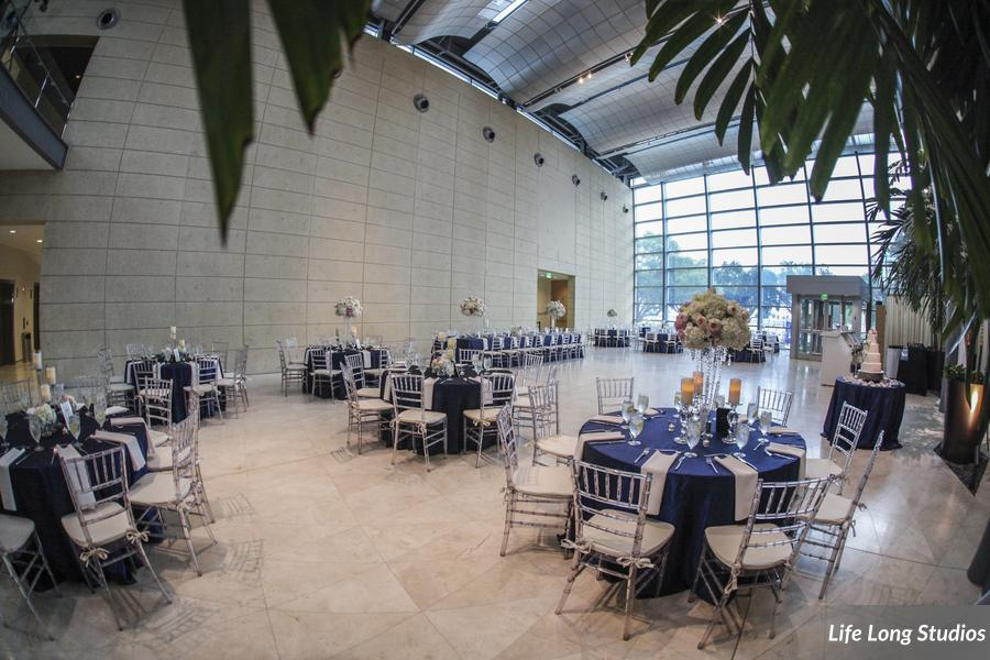 The reception at the Museum of Fine Arts featured crystal candlesticks and chiavari chairs