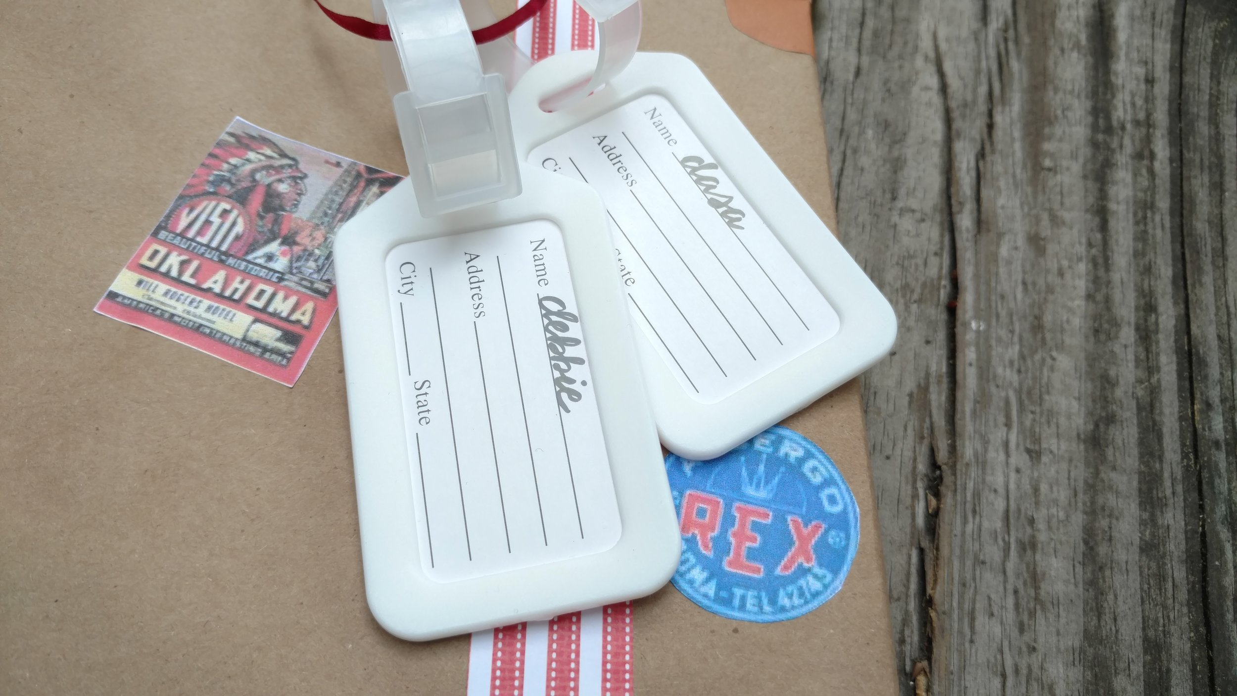 To purchase similar luggage tags,  click here