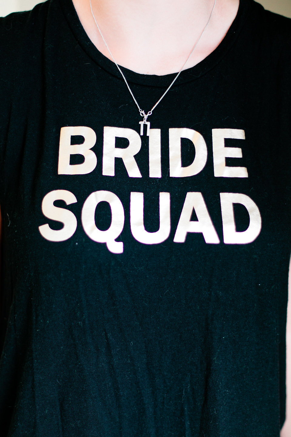 The bridal party sported cute shirts courtesy of the bride.