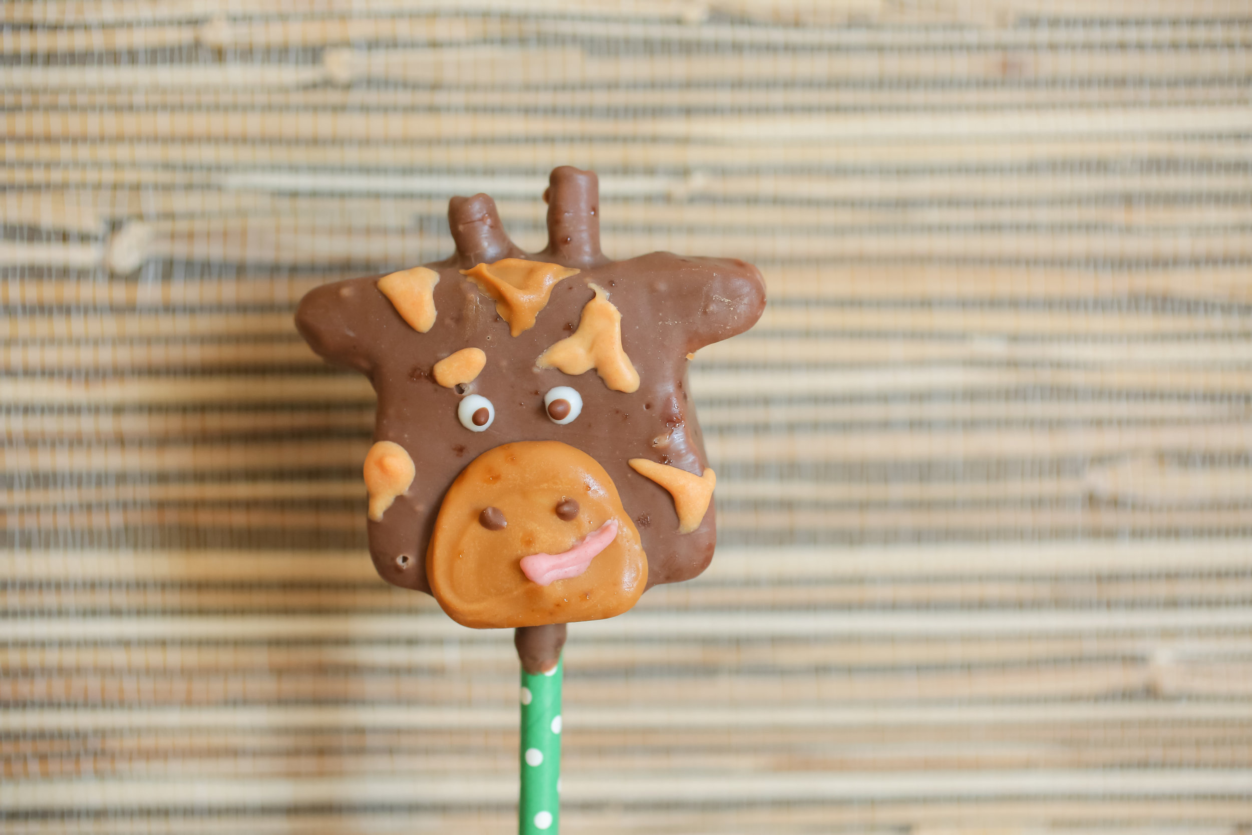 The custom giraffe marshmallow pops, and the most adorable cake you've ever seen, were also on the dessert menu.