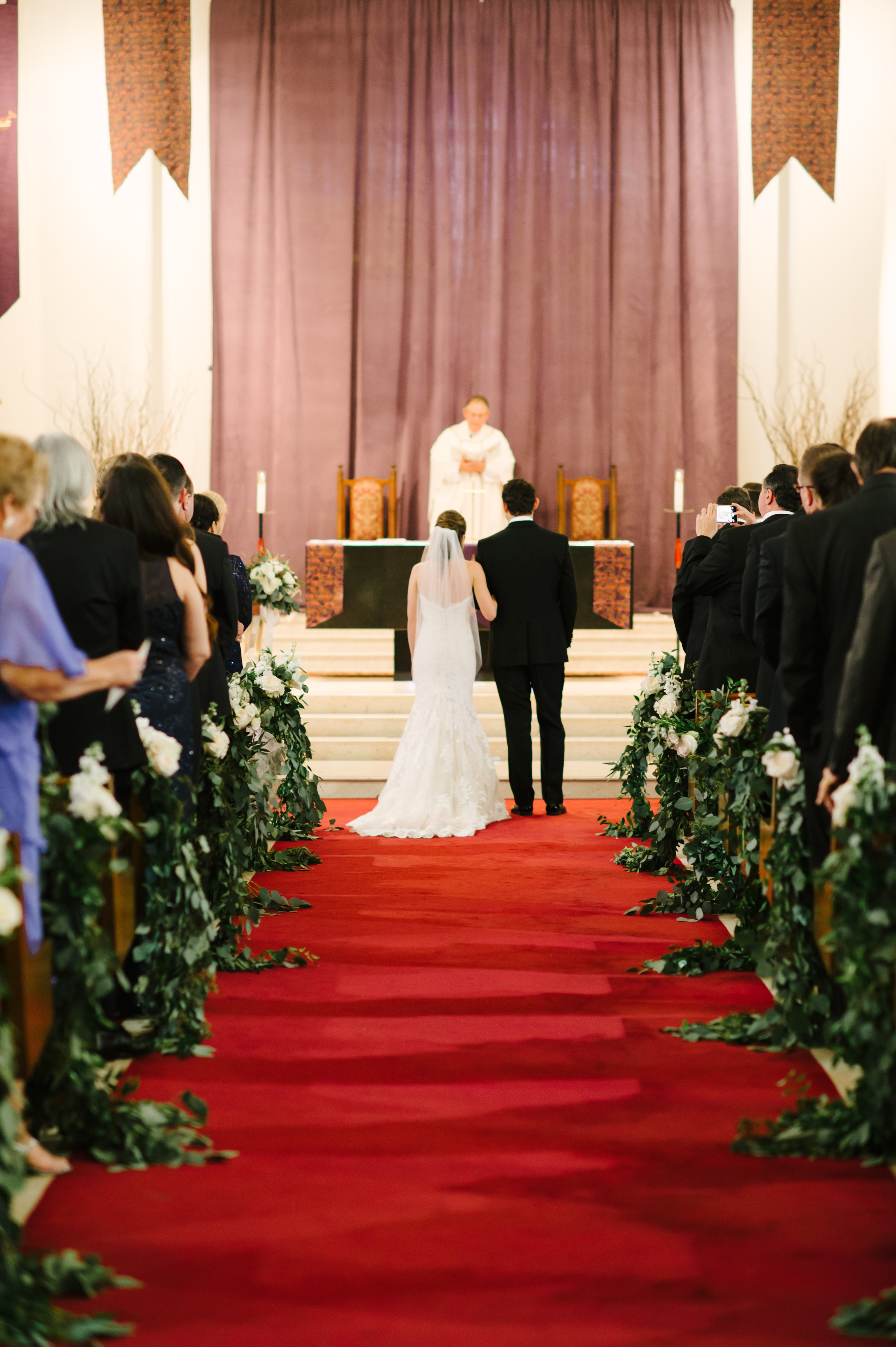 The couple held a traditional mass ceremony in the family's Catholic church.