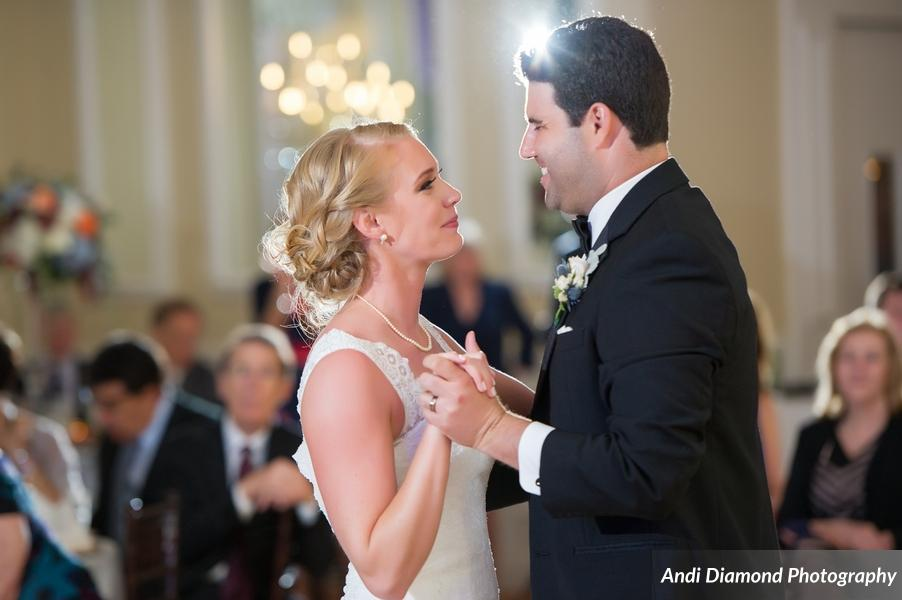 Everyone looked on in awe as the couple shared their first dance.