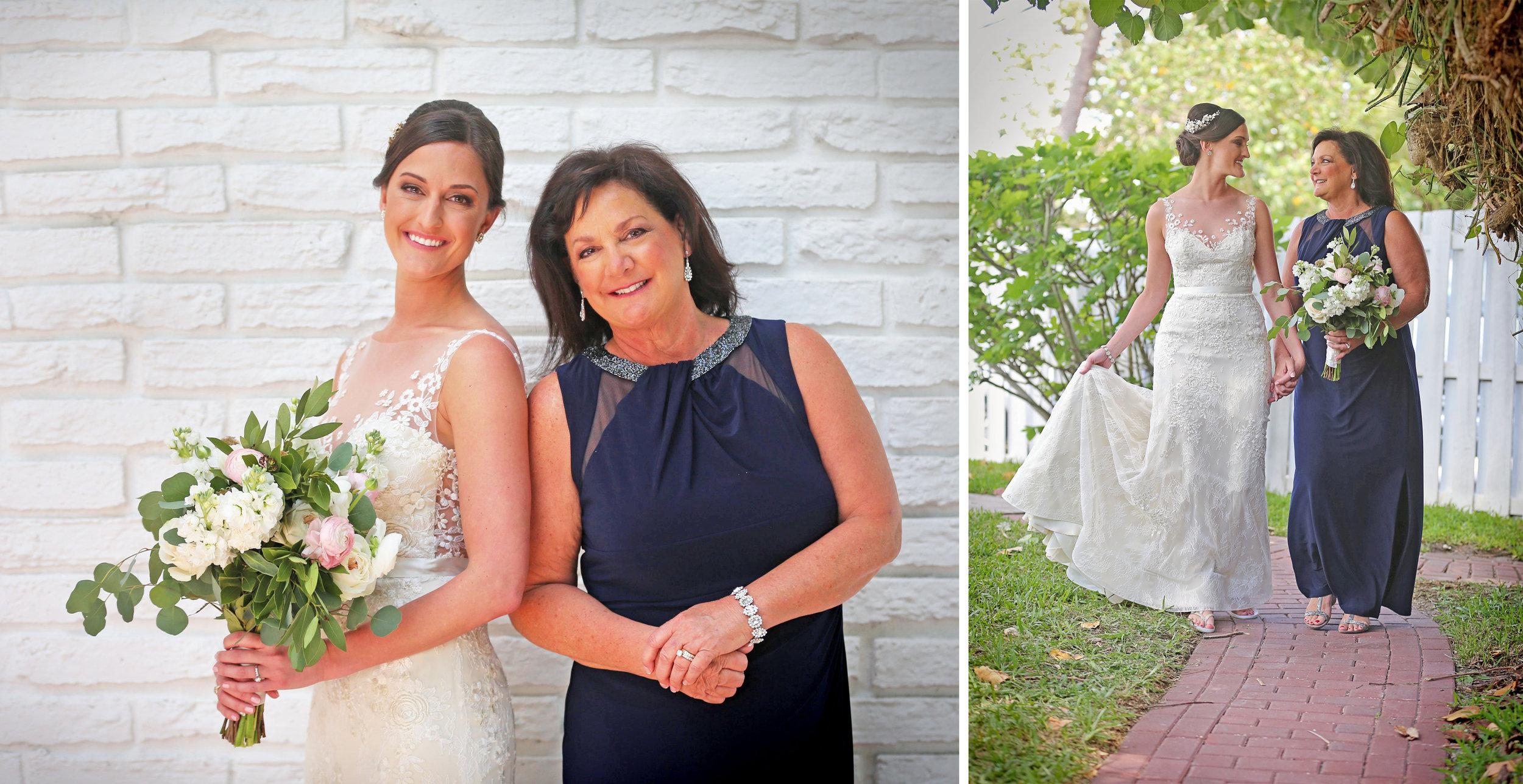 The bride and her mother looked absolutely gorgeous together!