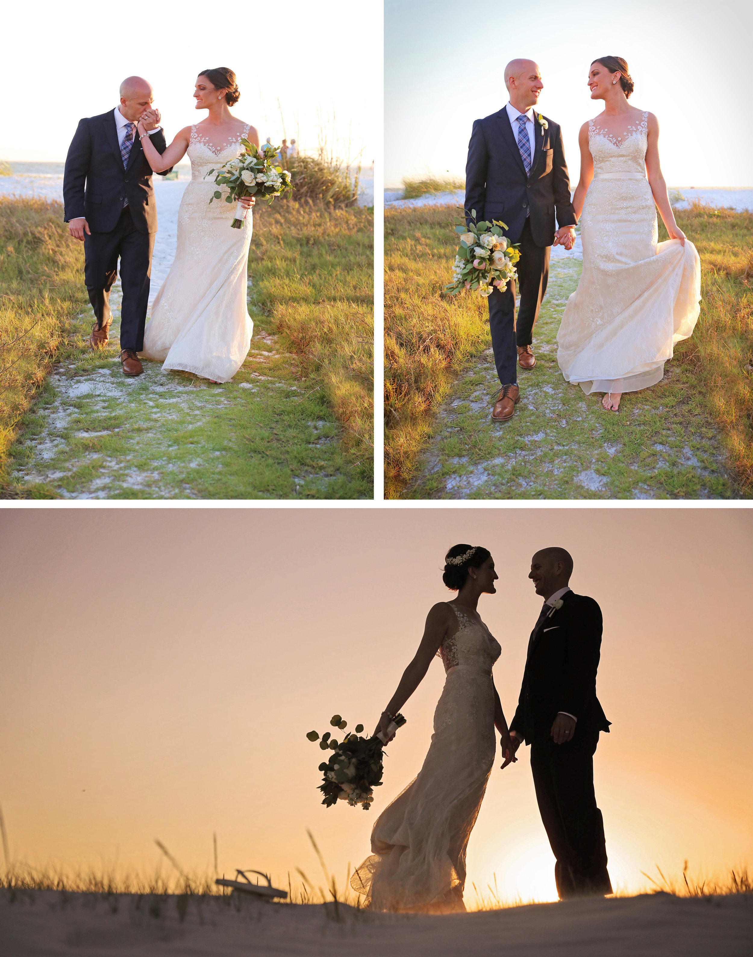 Siesta Key provided a sentimental setting for these love birds, and a stunning backdrop with that beach front sunset!
