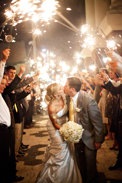 A sparkler sendoff on the streets of ybor was the perfect ending to this night!