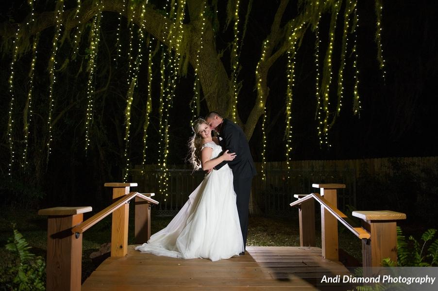 All of the twinkling lights at Baker's Ranch created an intimate and romantic feel.