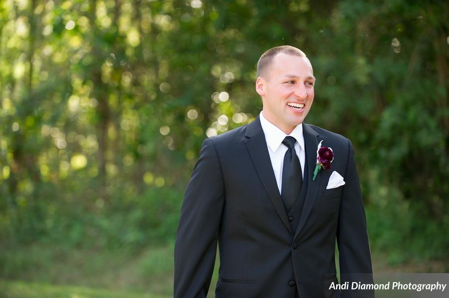 You can see how truly enamored the groom is with his bride, seeing her for the first time that day.