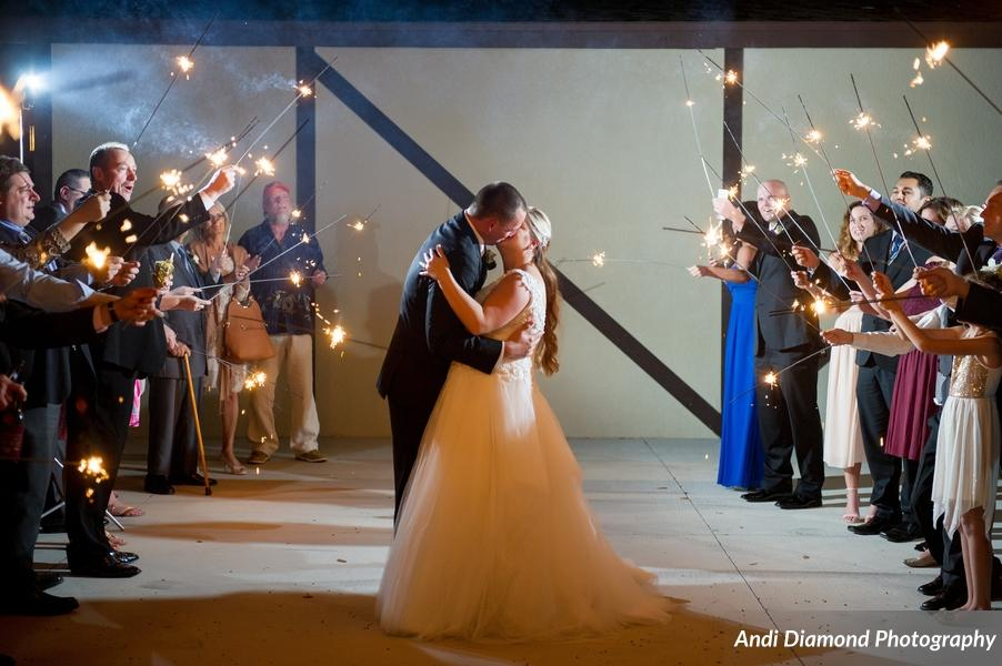 A sparkler send off bid farewell to the couple with love and well-wishes!