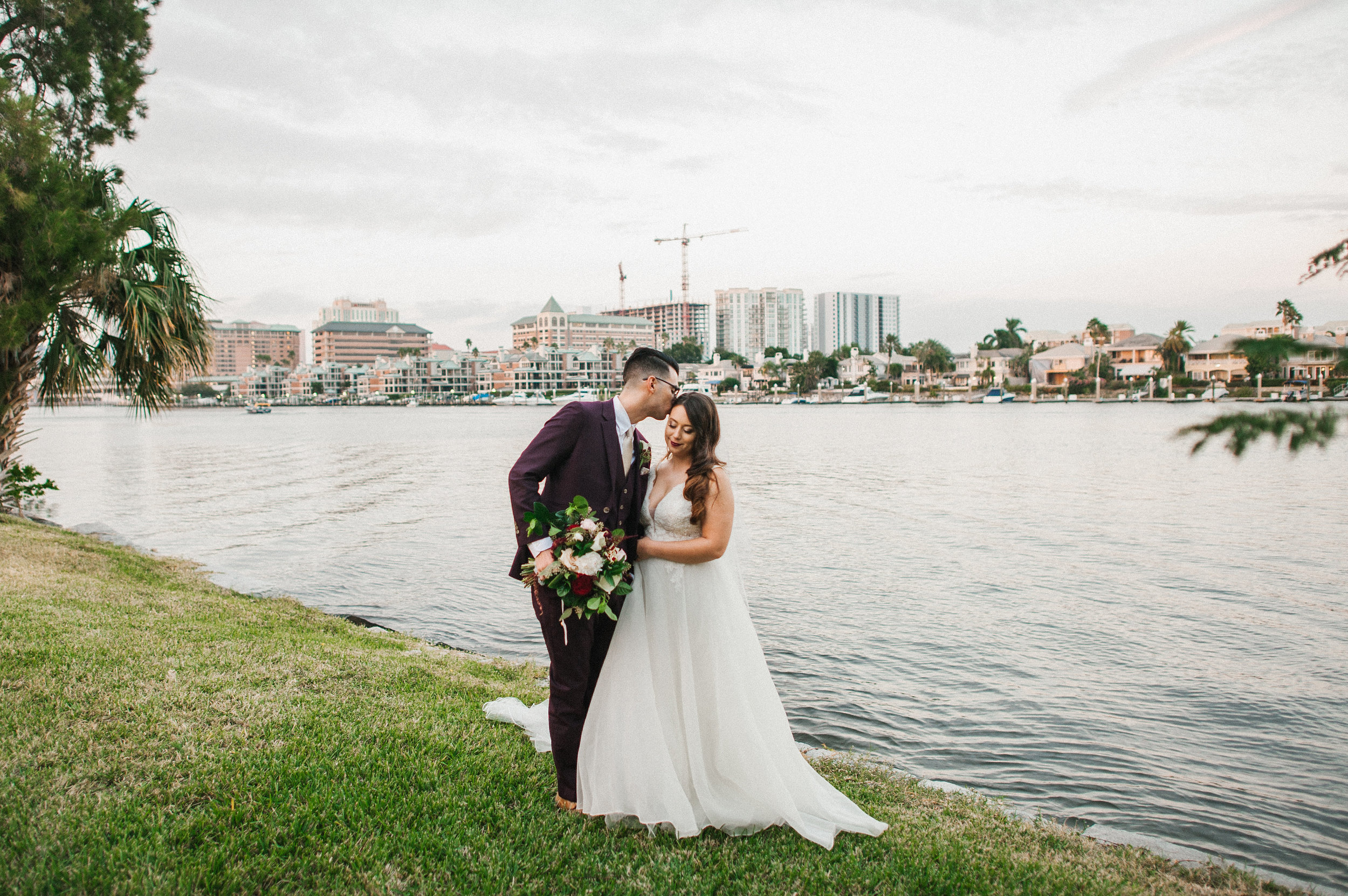 The couple looked stunning together (and completely in love) against the Davis Islands Garden Club waterfront backdrop.