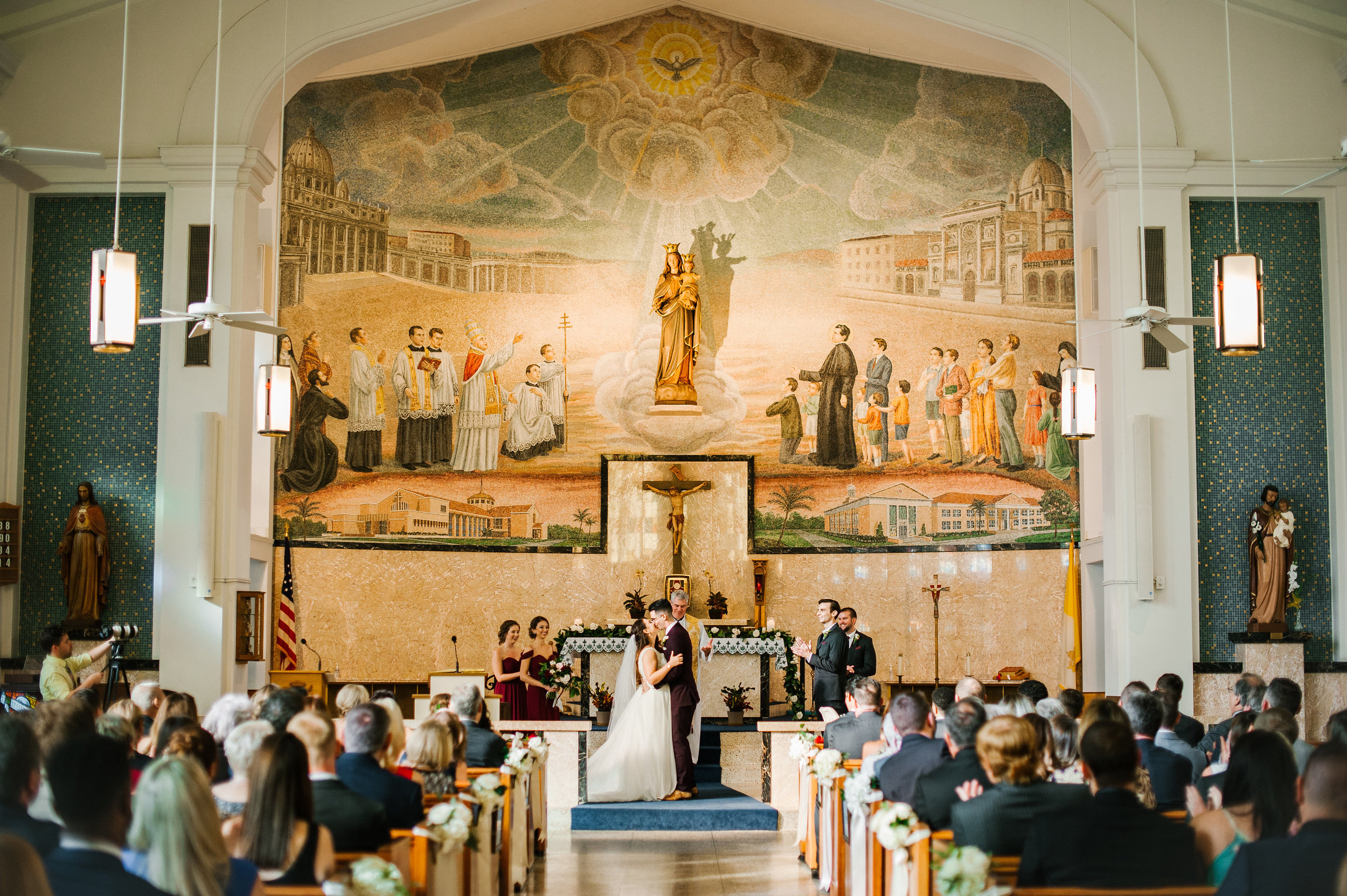 The ceremony was held at the beautiful Mary Help of Christian Catholic Church.