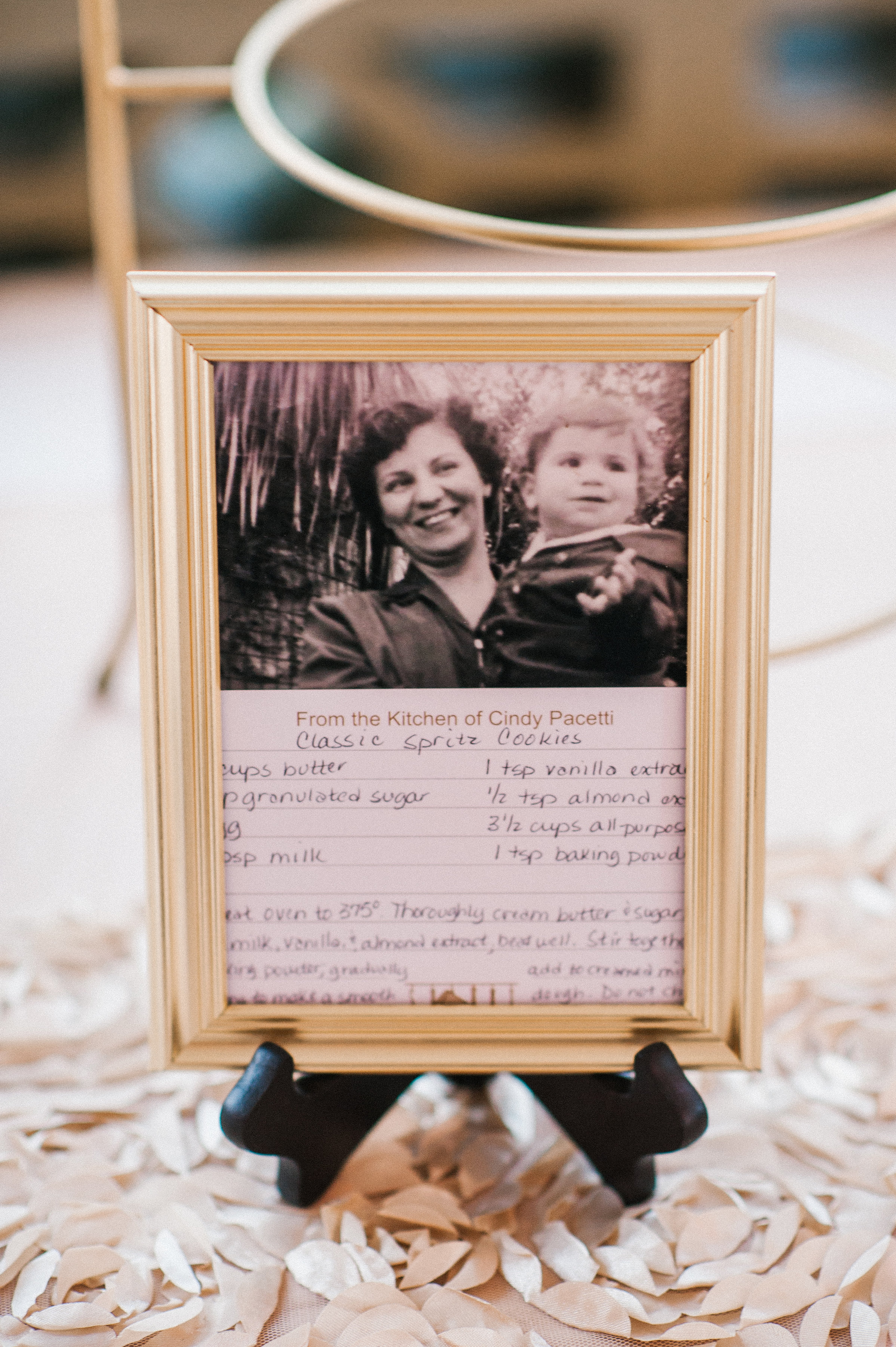 Each homemade sweet treat was accompanied by an old family photograph and the family recipe for each dessert.