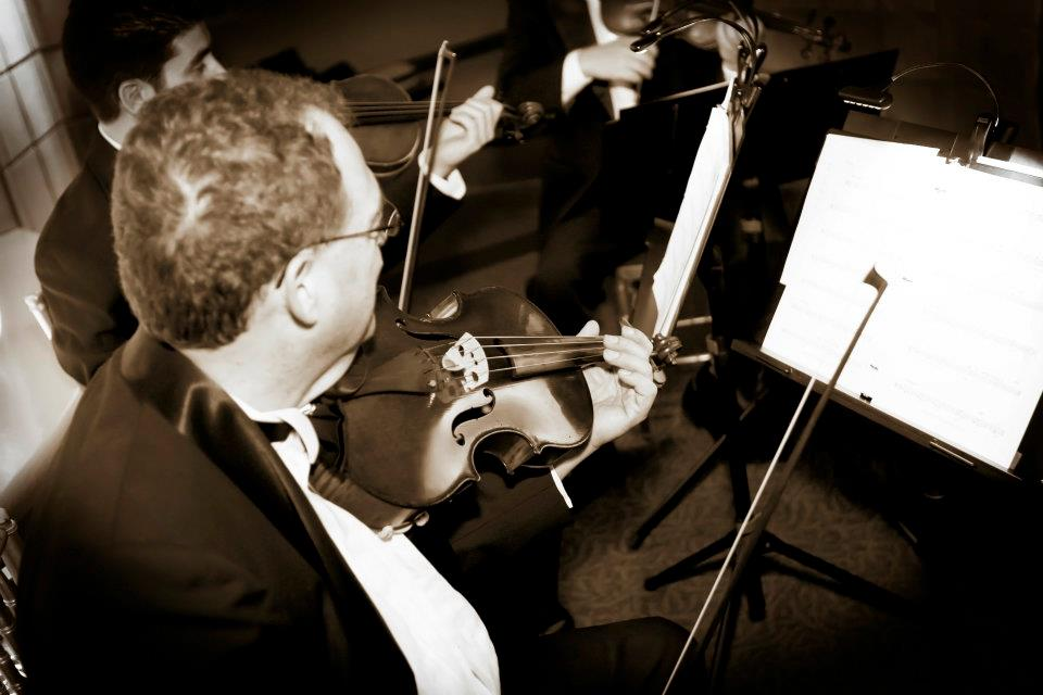 The affair boasted a string quartet for the ceremony and a live band for the reception.
