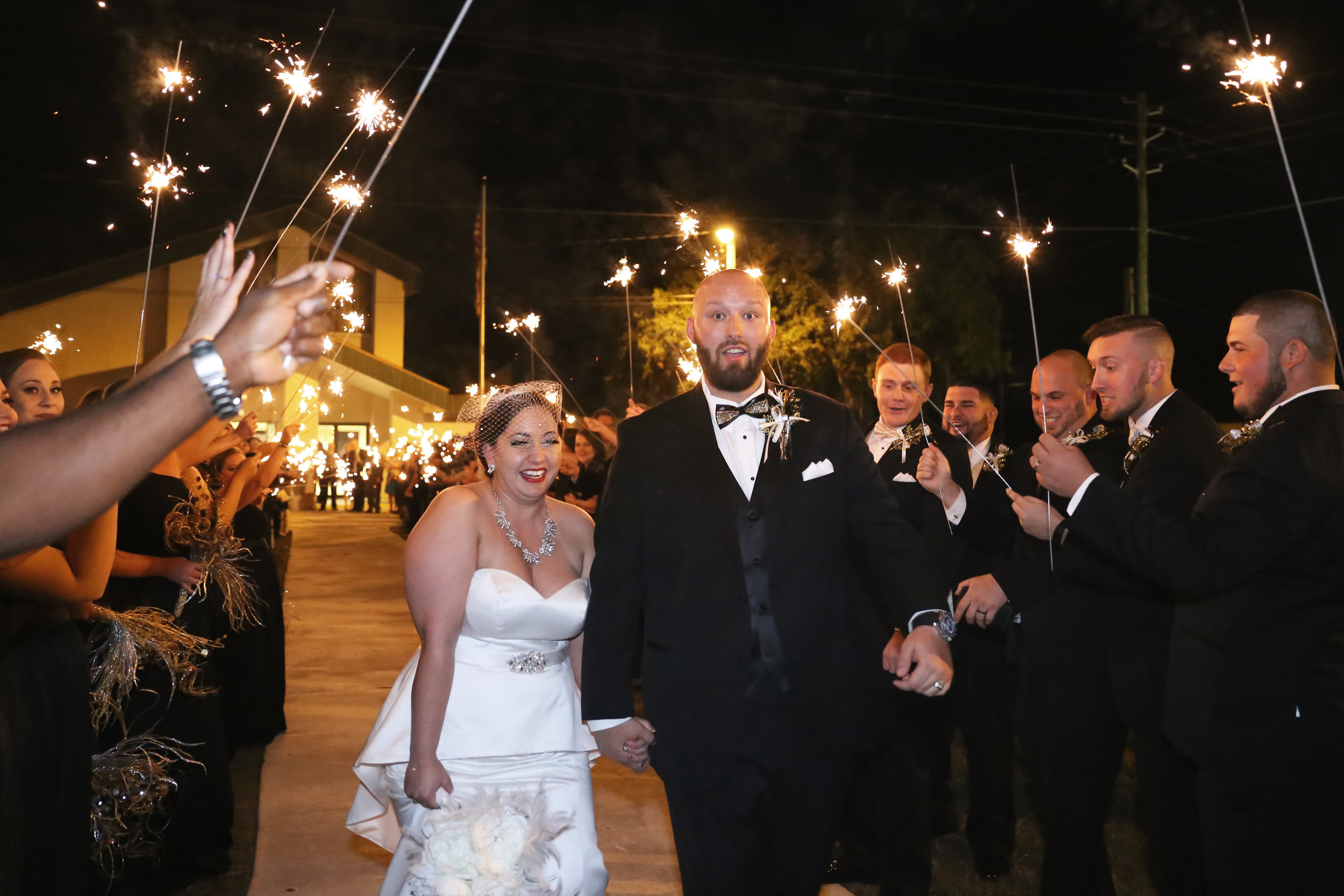 A sparkler sendoff welcomed in the new year and sent the couple off with well wishes and love!