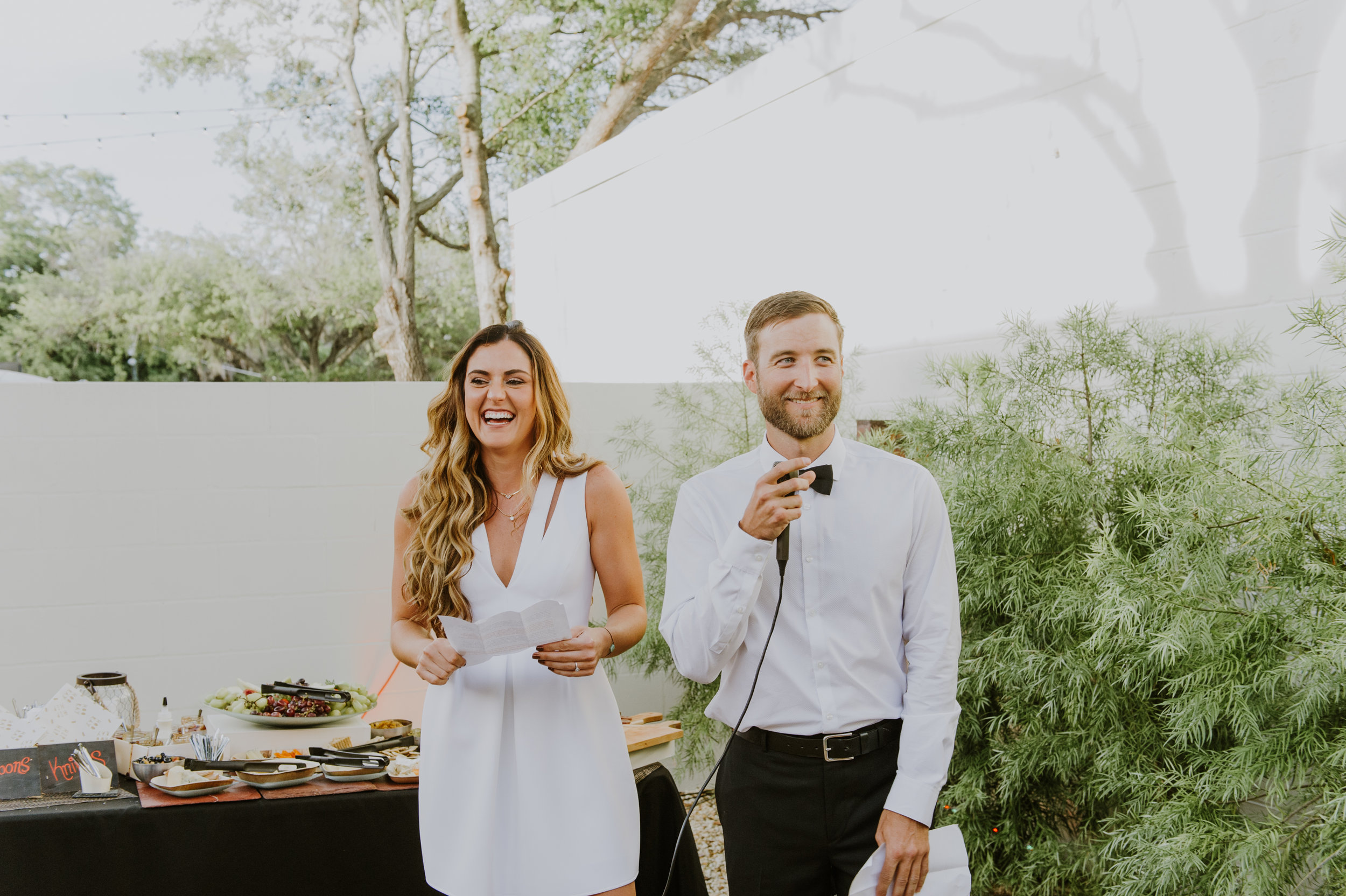 "As Robyn and Drew grabbed the mic to thank their friends for attending and to announce their upcoming wedding date, Drew revealed ""we've chosen our wedding date... and it's right now, TODAY!"""