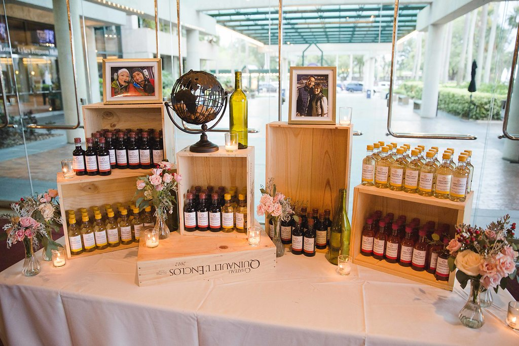 Even the menu featured wine throughout, such as red-wine vinaigrette with the salad course, filet with red wine demi glace, and tilapia with white wine scampi sauce.