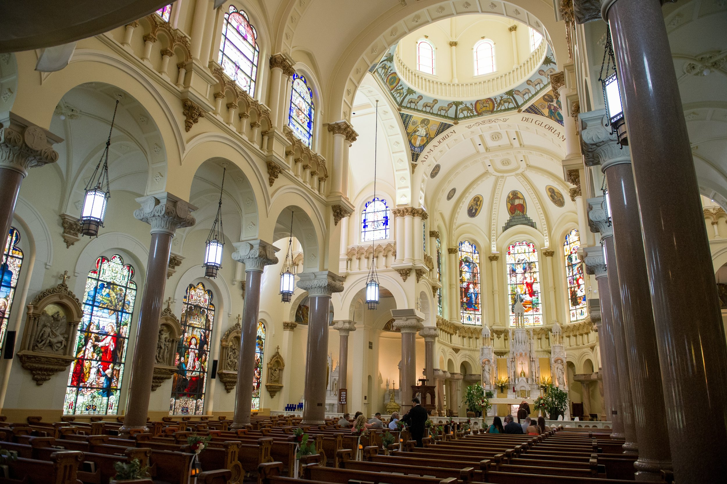 The traditional Catholic mass ceremony was held at the impressive Sacred Heart Catholic Church, a historic gothic style cathedral in Downtown Tampa.