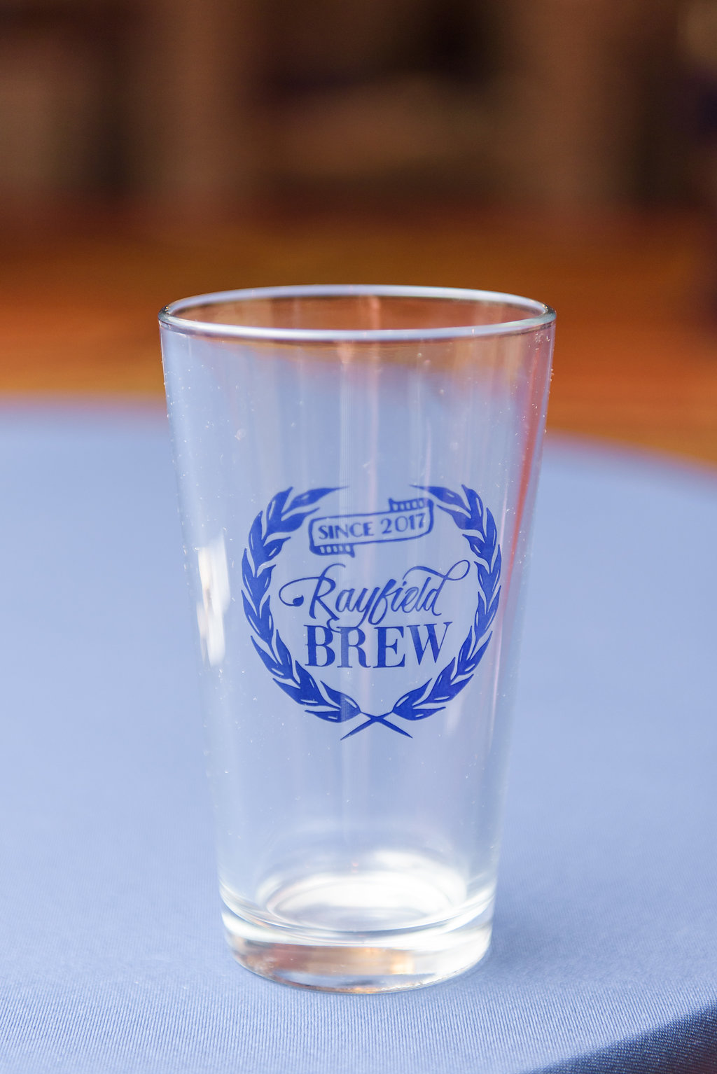 The custom pint glasses were perfect for the craft beer taps flowing at the bars.