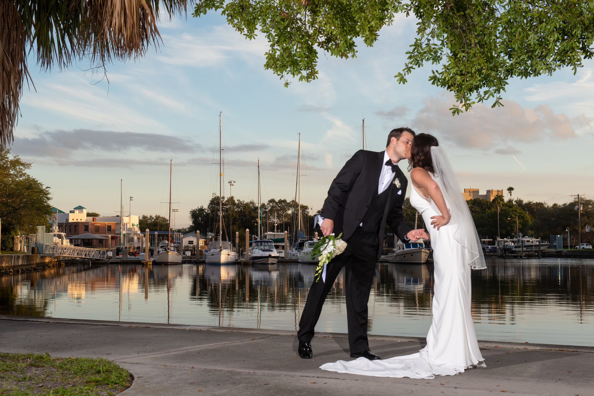 Tampa Bay and a stunning sunset provided the perfect backdrop for this Florida inspired soiree.