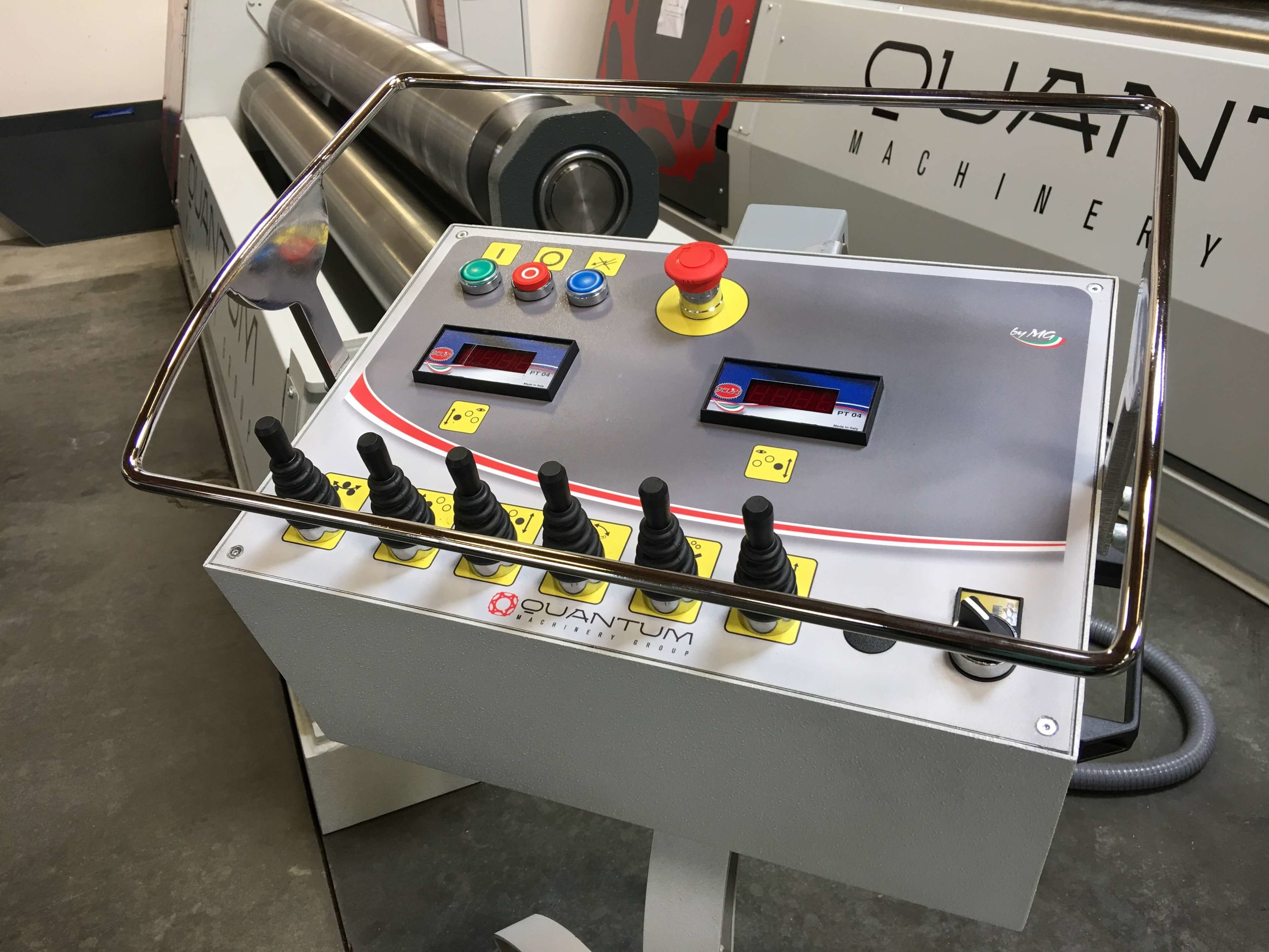 control for steel rolling machine