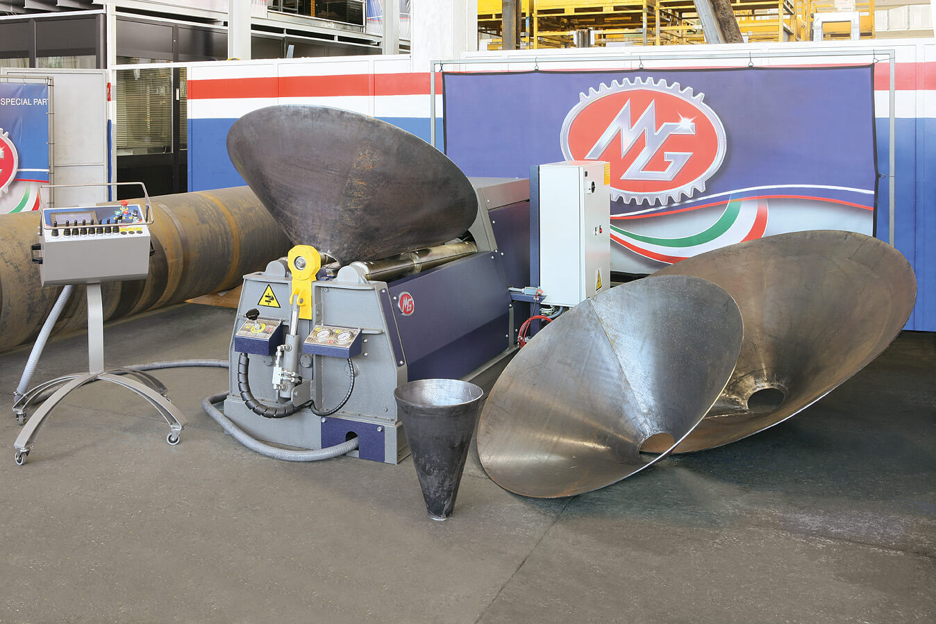 rolled metal cones