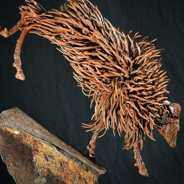 Talk about #metal #art - There were approximately 450 #horseshoe #nails that were used in this #NewZealand #Tahr #sculpture by Frank Cole (@frankcole.art) . . #repost #love #this #metalart #fabricator #custom #design #instagood #photooftheday #tbt#picoftheday #follow #instadaily #repost #igers #amazing#instamood #photography #instagram #photo